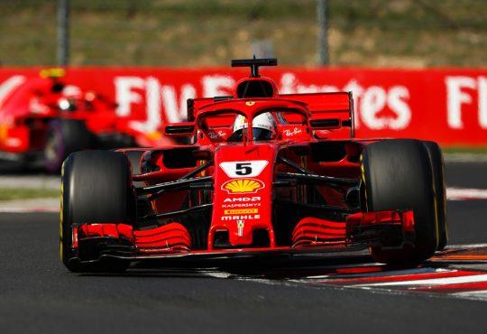 HUNGARORING, HUNGARY - JULY 29: Sebastian Vettel, Ferrari SF71H during the Hungarian GP at Hungaroring on July 29, 2018 in Hungaroring, Hungary. (Photo by Zak Mauger / LAT Images)