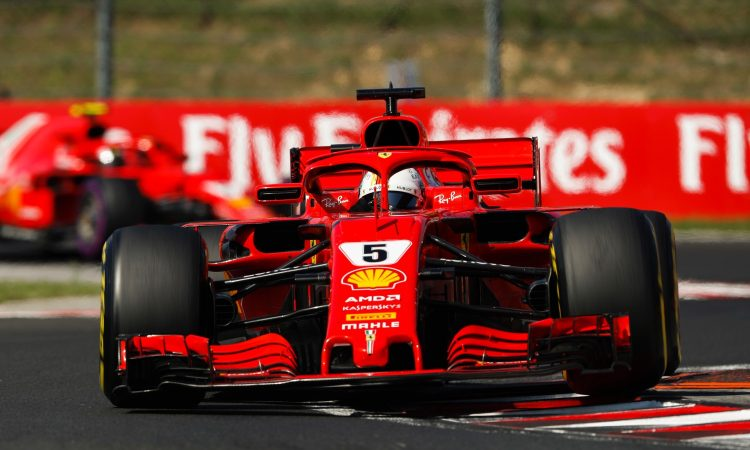 HUNGARORING, HUNGARY - JULY 29: Sebastian Vettel, Ferrari SF71H during the Hungarian GP at Hungaroring on July 29, 2018 in Hungaroring, Hungary. (Photo by Zak Mauger / LAT Images)