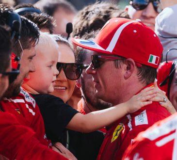 Kimi Räikkönen, Robin Räikkönen, Minttu Räikkönen after the Hungarian Grand Prix