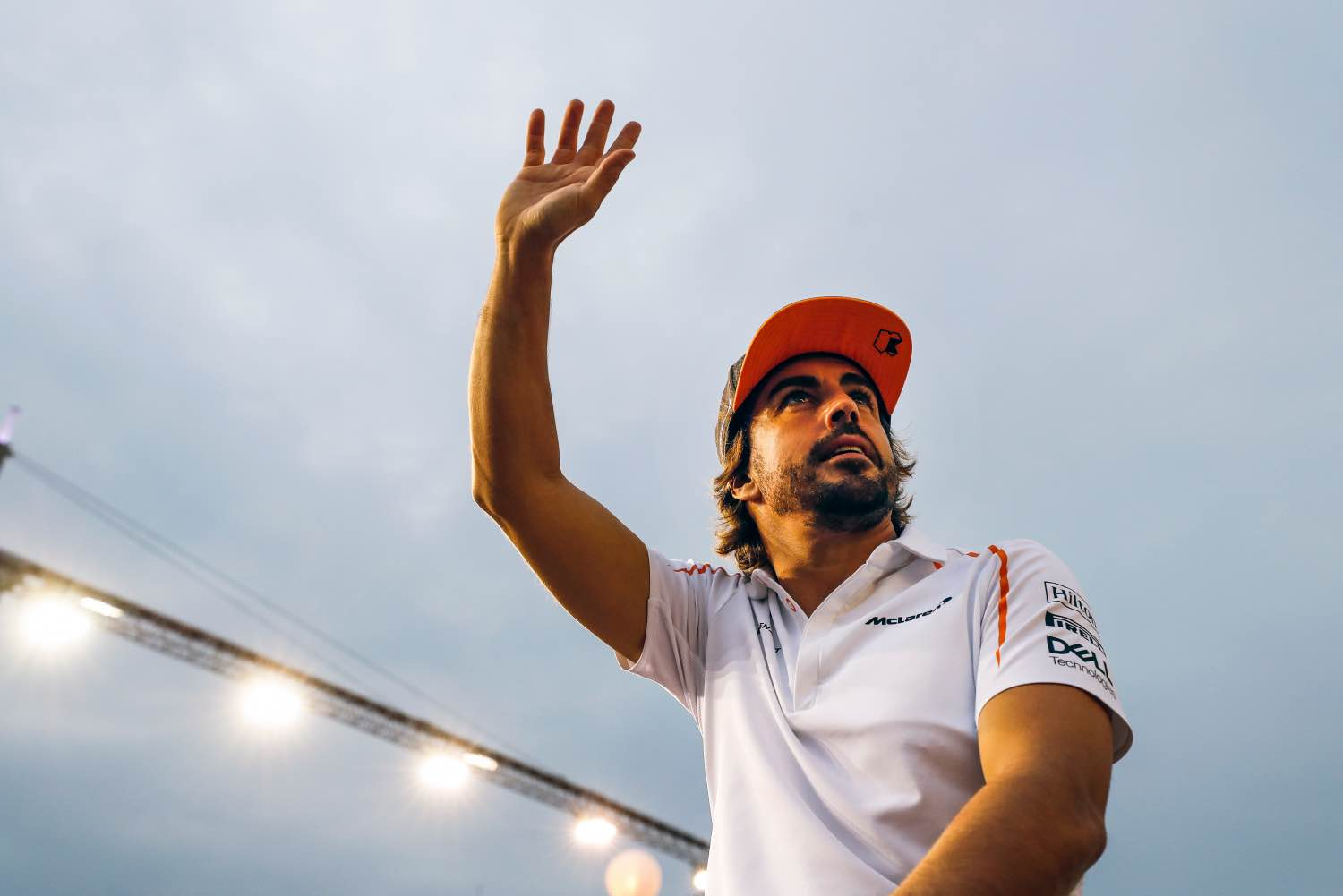 Marina Bay Circuit, Singapore Sunday 16 September 2018. Fernando Alonso, McLaren, in the drivers parade. Photo: Steven Tee/McLaren ref: Digital Image _2ST1470