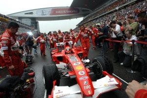 Schumacher összes F1-es autója