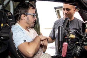 Alonso Dakar-autóval tesztel