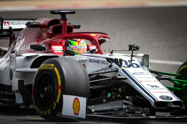 36 SCHUMACHER Mick (ger), Alfa Romeo Racing C38, action during Formula 1 tests from April 2 to 3, 2019 at Bahraïn, Sakhir - Photo Antonin Vincent / DPPI