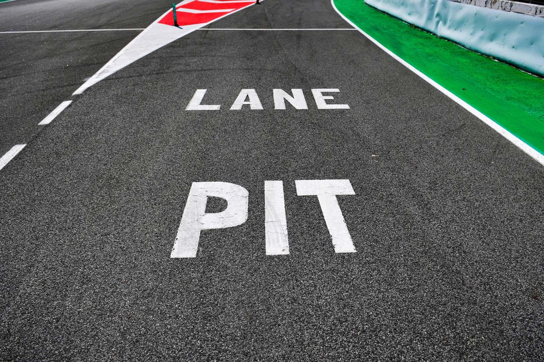 Pit lane signage