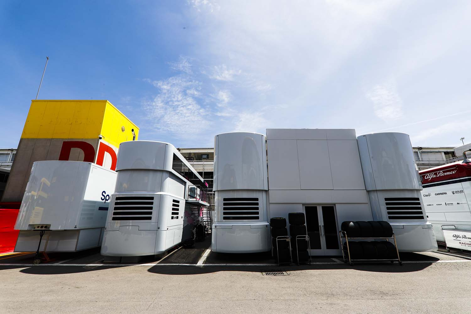 Race transporters / offices in the paddock