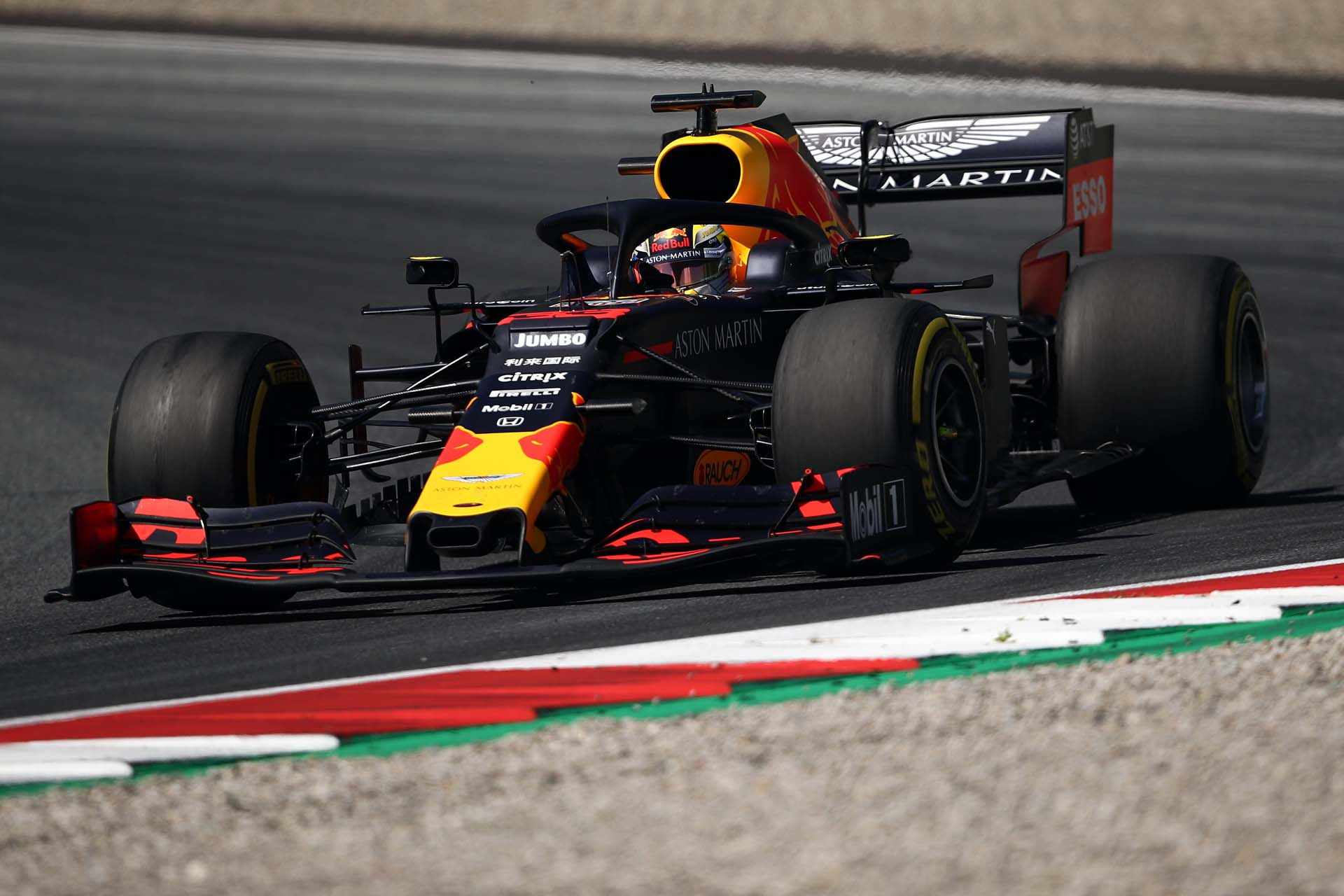 SPIELBERG, AUSTRIA - JUNE 28: Max Verstappen of the Netherlands driving the (33) Aston Martin Red Bull Racing RB15 on track during practice for the F1 Grand Prix of Austria at Red Bull Ring on June 28, 2019 in Spielberg, Austria. (Photo by Bryn Lennon/Getty Images) // Getty Images / Red Bull Content Pool  // AP-1ZSNE98M91W11 // Usage for editorial use only // Please go to www.redbullcontentpool.com for further information. //
