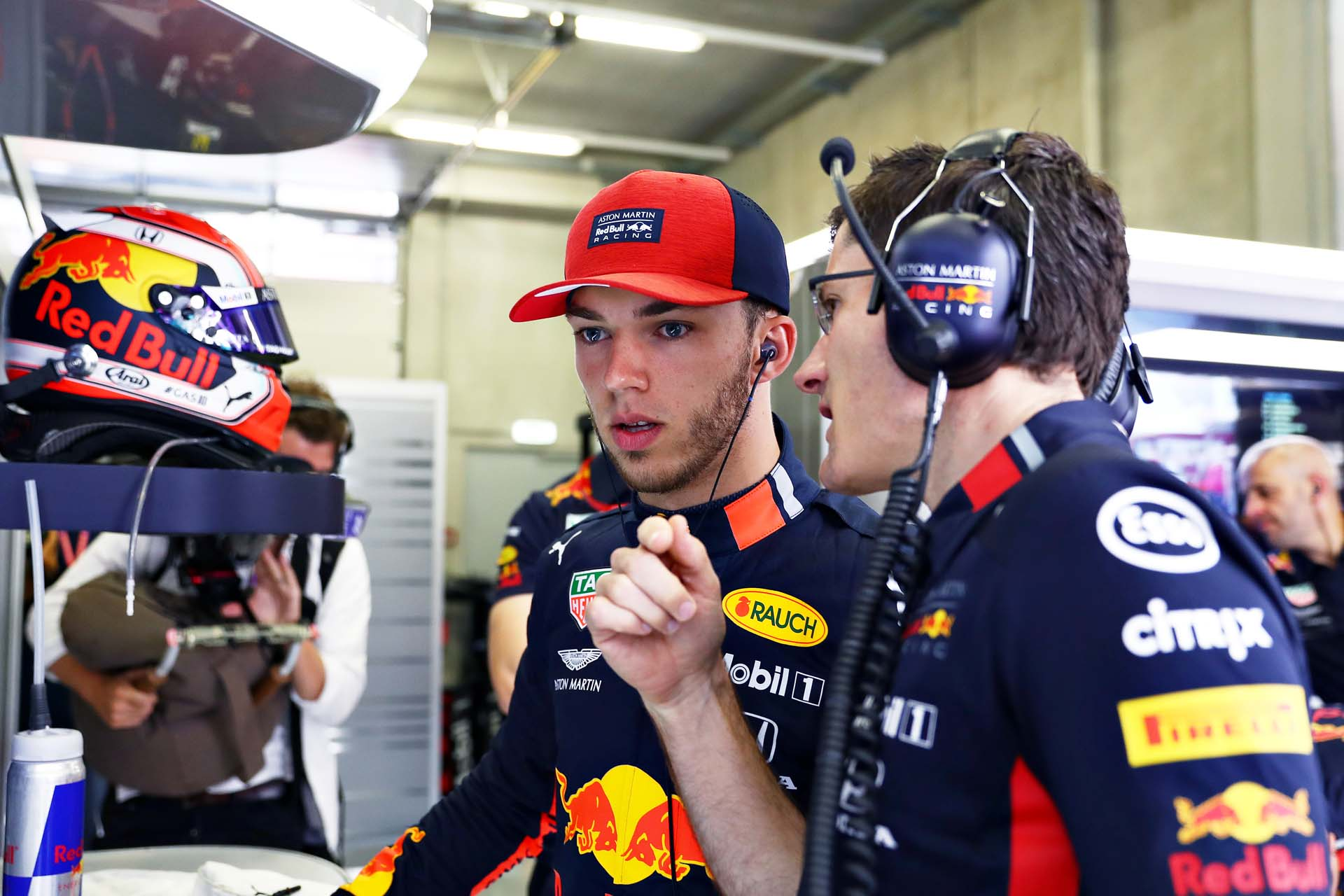 SPIELBERG, AUSTRIA - JUNE 29: Pierre Gasly of France and Red Bull Racing prepares to drive in the garage during qualifying for the F1 Grand Prix of Austria at Red Bull Ring on June 29, 2019 in Spielberg, Austria. (Photo by Mark Thompson/Getty Images) // Getty Images / Red Bull Content Pool  // AP-1ZSYMNEGN2111 // Usage for editorial use only // Please go to www.redbullcontentpool.com for further information. //