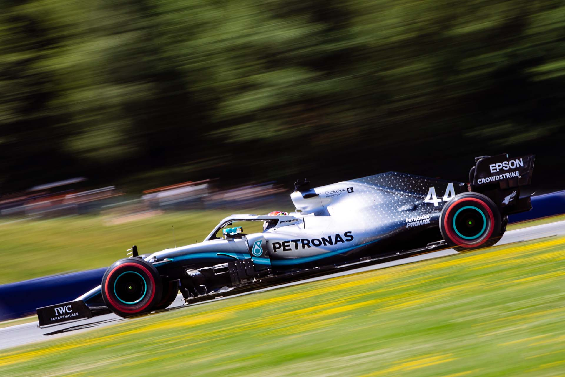 SPIELBERG,AUSTRIA,29.JUN.19 - MOTORSPORTS, FORMULA 1 - Grand Prix of Austria, Red Bull Ring, qualification. Image shows Lewis Hamilton (GBR/ Mercedes). Photo: GEPA pictures/ Matic Klansek - For editorial use only. Image is free of charge.