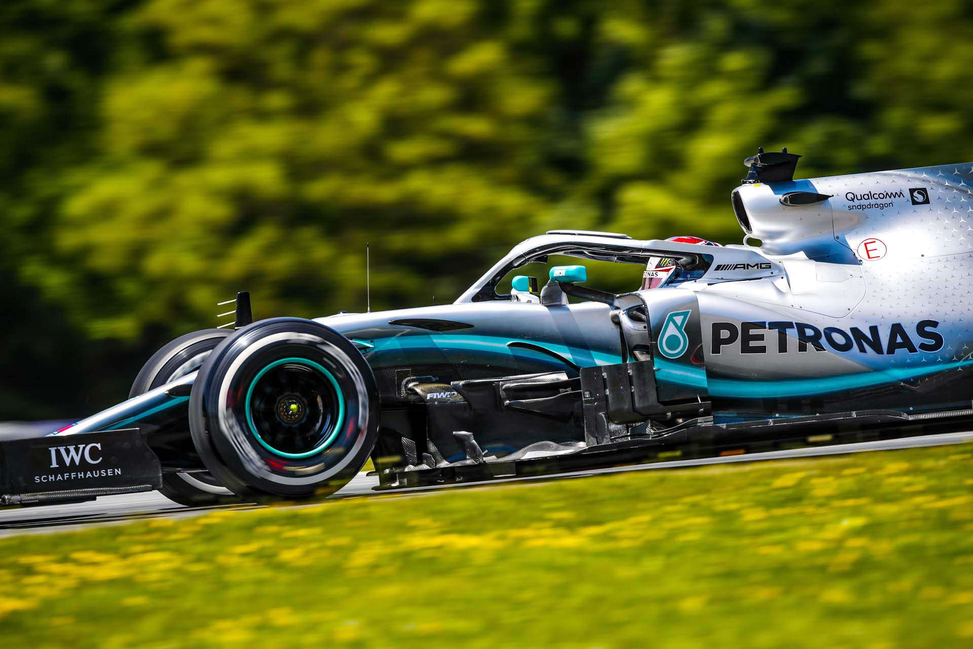 HAMILTON Lewis (gbr), Mercedes AMG F1 GP W10 Hybrid EQ Power+, action during the 2019 Formula One World Championship, Grand Prix of Austria from June 27 to 31, in Spielberg, Austria - Photo Florent Gooden / DPPI