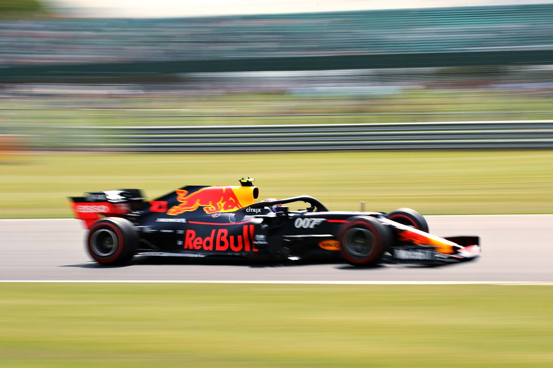NORTHAMPTON, ENGLAND - JULY 12: Pierre Gasly of France driving the (10) Aston Martin Red Bull Racing RB15 on track during practice for the F1 Grand Prix of Great Britain at Silverstone on July 12, 2019 in Northampton, England. (Photo by Bryn Lennon/Getty Images) // Getty Images / Red Bull Content Pool  // AP-1ZX52P6ND2111 // Usage for editorial use only // Please go to www.redbullcontentpool.com for further information. //