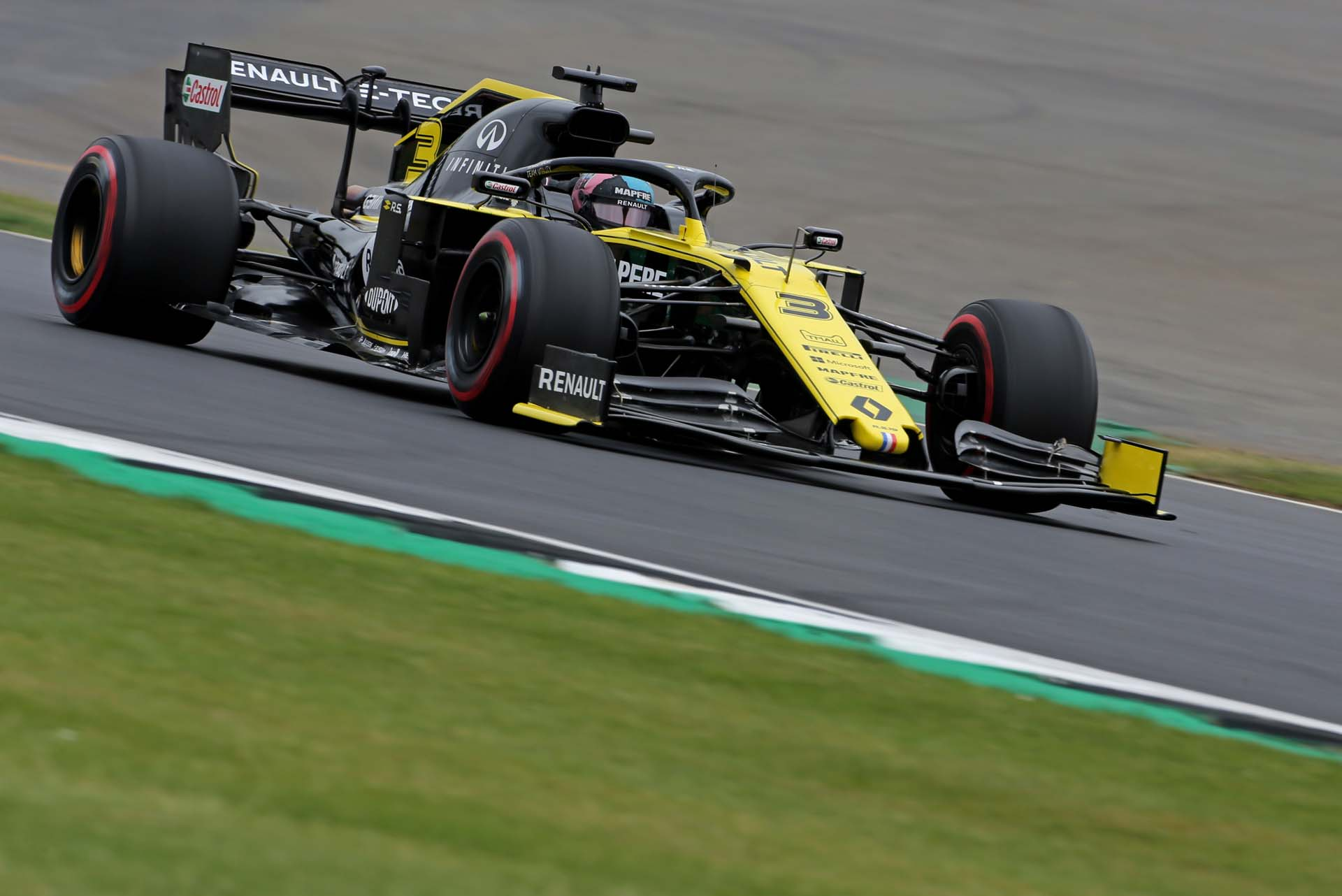 Daniel Ricciardo (AUS) Renault F1 Team RS19. British Grand Prix, Saturday 13th July 2019. Silverstone, England.