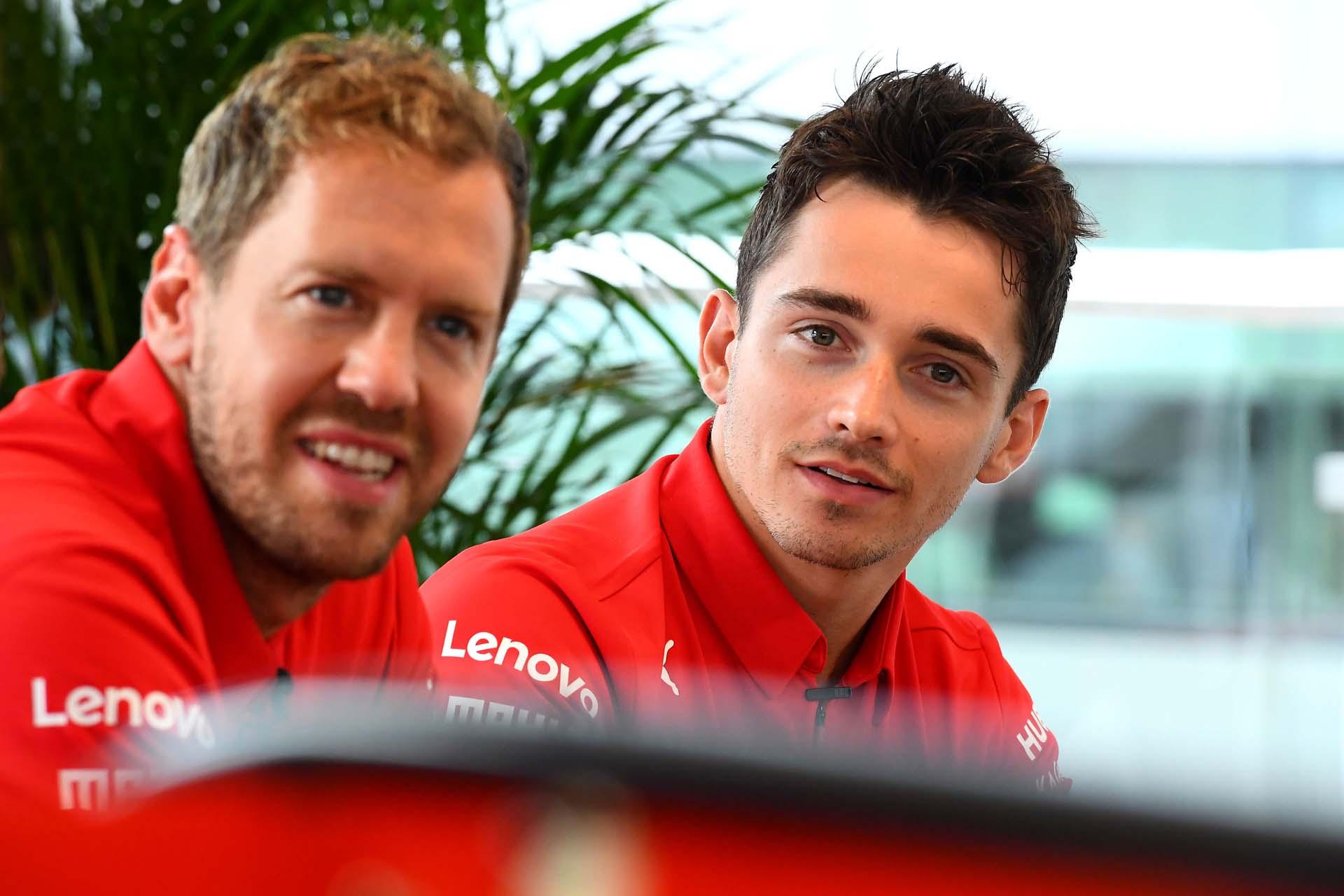 GP GRAN BRETAGNA F1/2019 - GIOVEDÌ 11/07/2019 credit: @Scuderia Ferrari Press Office Sebastian Vettel Charles Leclerc