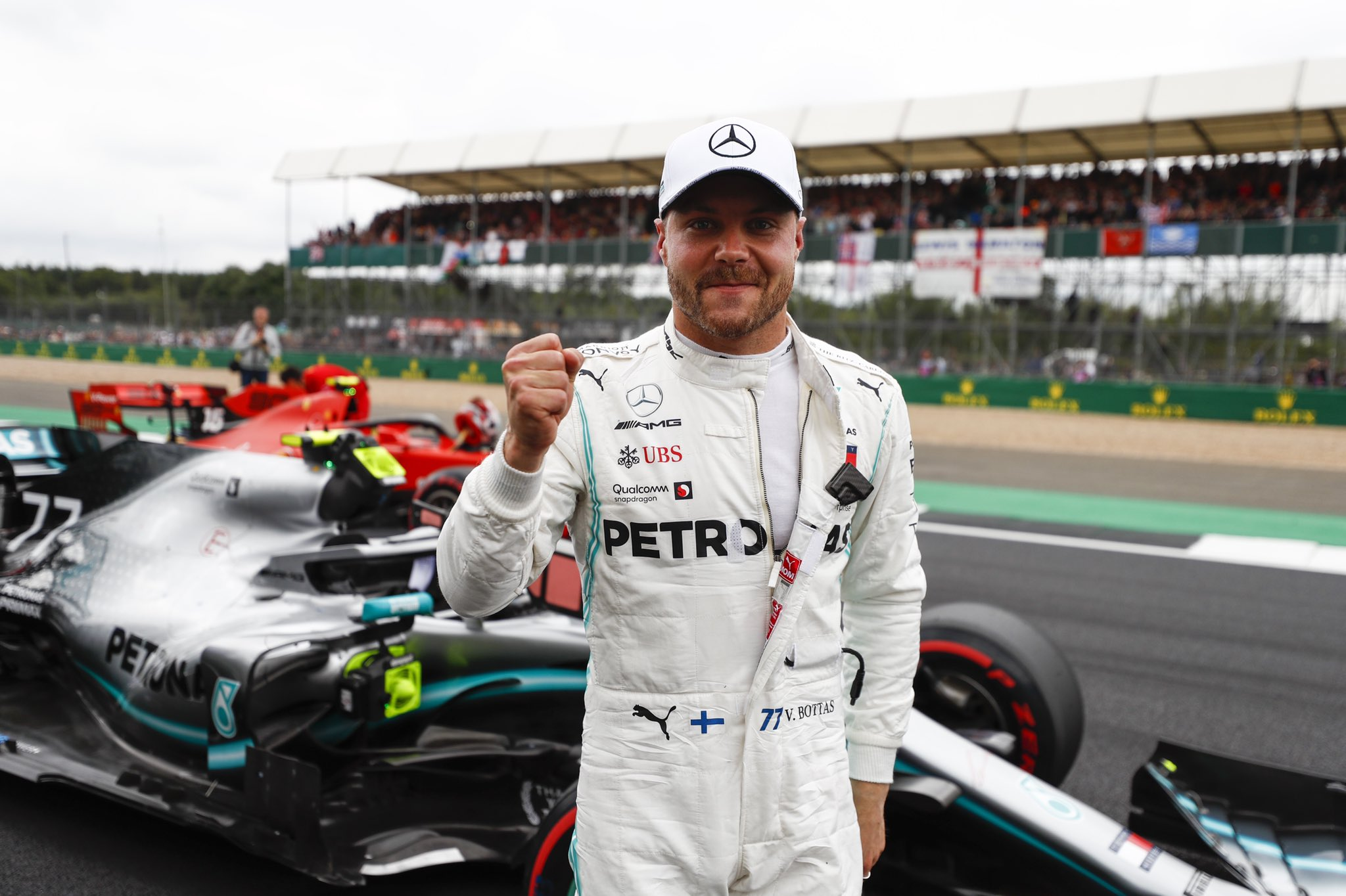 Valtteri Bottas, Mercedes, pole, British GP 2019, Silverstone