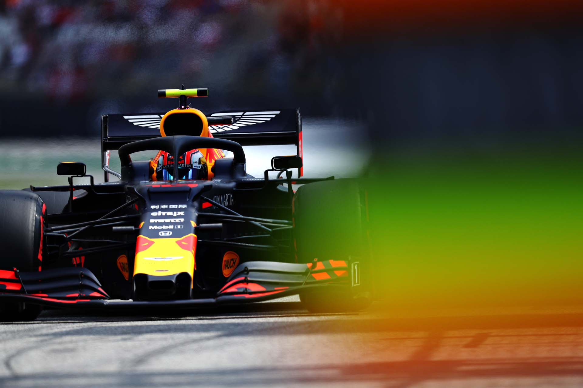 HOCKENHEIM, GERMANY - JULY 27: Pierre Gasly of France driving the (10) Aston Martin Red Bull Racing RB15 in the Pitlane during qualifying for the F1 Grand Prix of Germany at Hockenheimring on July 27, 2019 in Hockenheim, Germany. (Photo by Mark Thompson/Getty Images) // Getty Images / Red Bull Content Pool  // AP-212YA9S8S2511 // Usage for editorial use only // Please go to www.redbullcontentpool.com for further information. //
