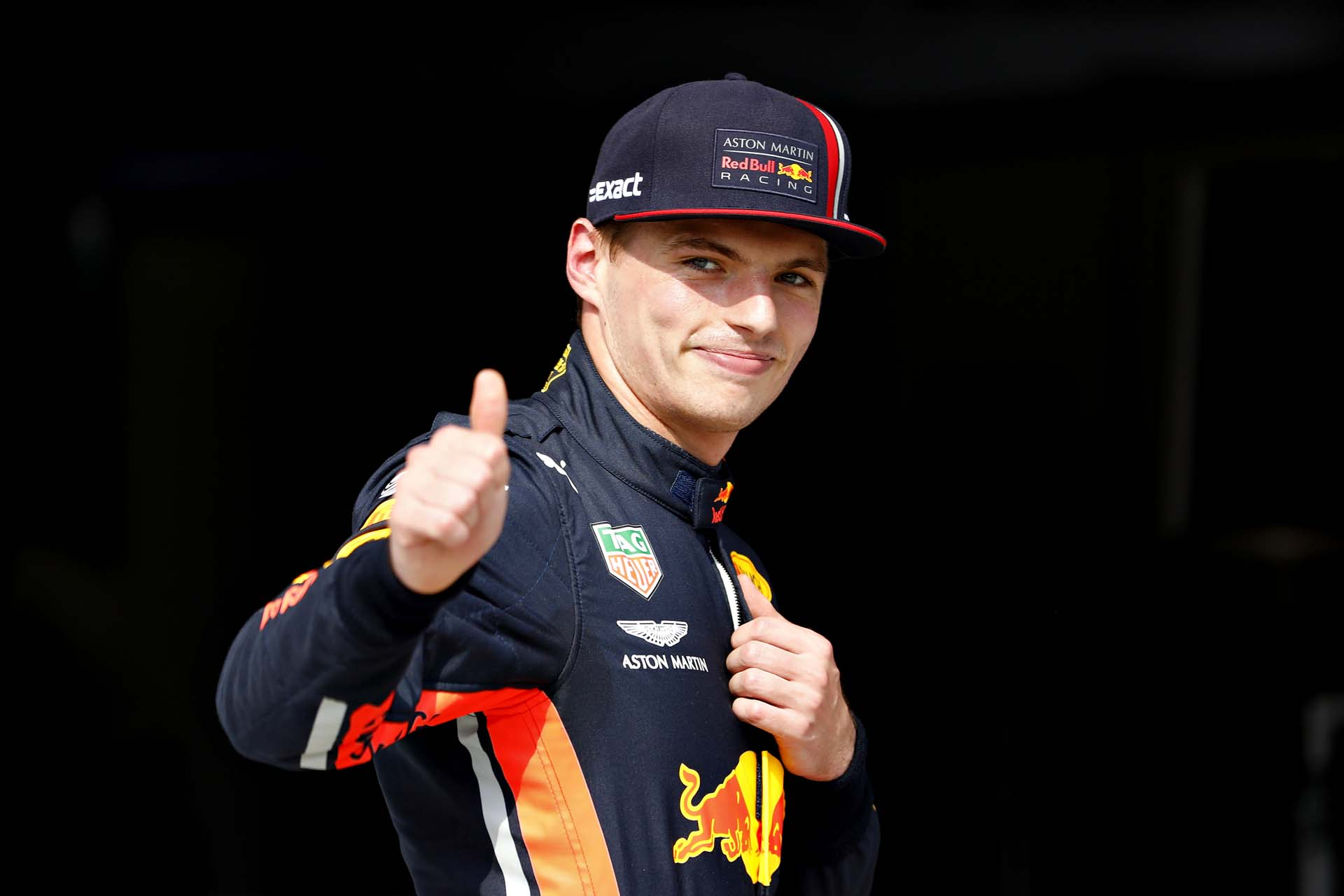 BUDAPEST, HUNGARY - AUGUST 03: Pole position qualifier Max Verstappen of Netherlands and Red Bull Racing celebrates in parc ferme during qualifying for the F1 Grand Prix of Hungary at Hungaroring on August 03, 2019 in Budapest, Hungary. (Photo by Will Taylor-Medhurst/Getty Images) // Getty Images / Red Bull Content Pool  // AP-2157SAK9N1W11 // Usage for editorial use only // Please go to www.redbullcontentpool.com for further information. //