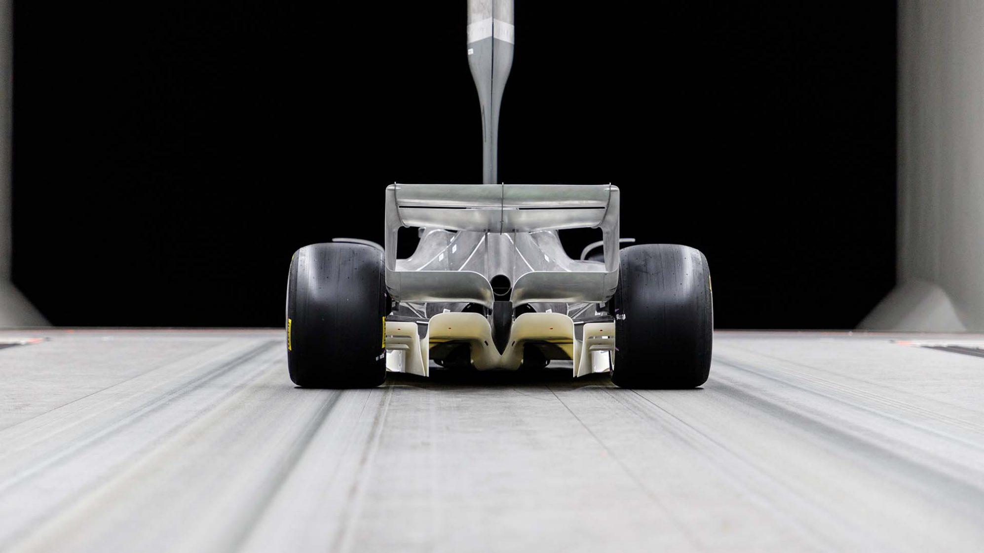 2021 F1 Car Model in wind tunnel