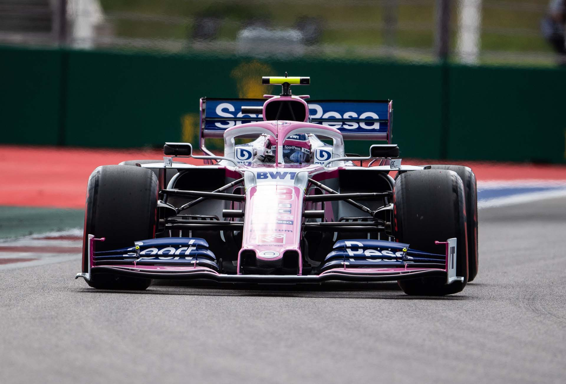 Lance Stroll, Racing Point RP19 during FP3