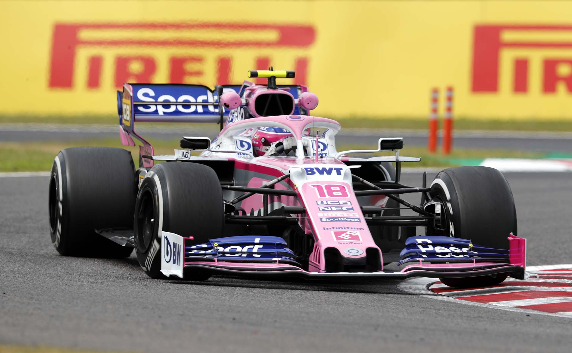 Lance Stroll, Racing Point RP19 during FP1
