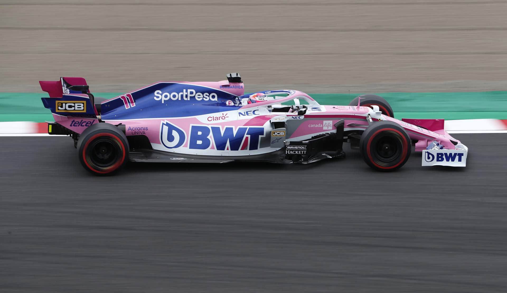 Sergio Perez, Racing Point RP19 during FP1