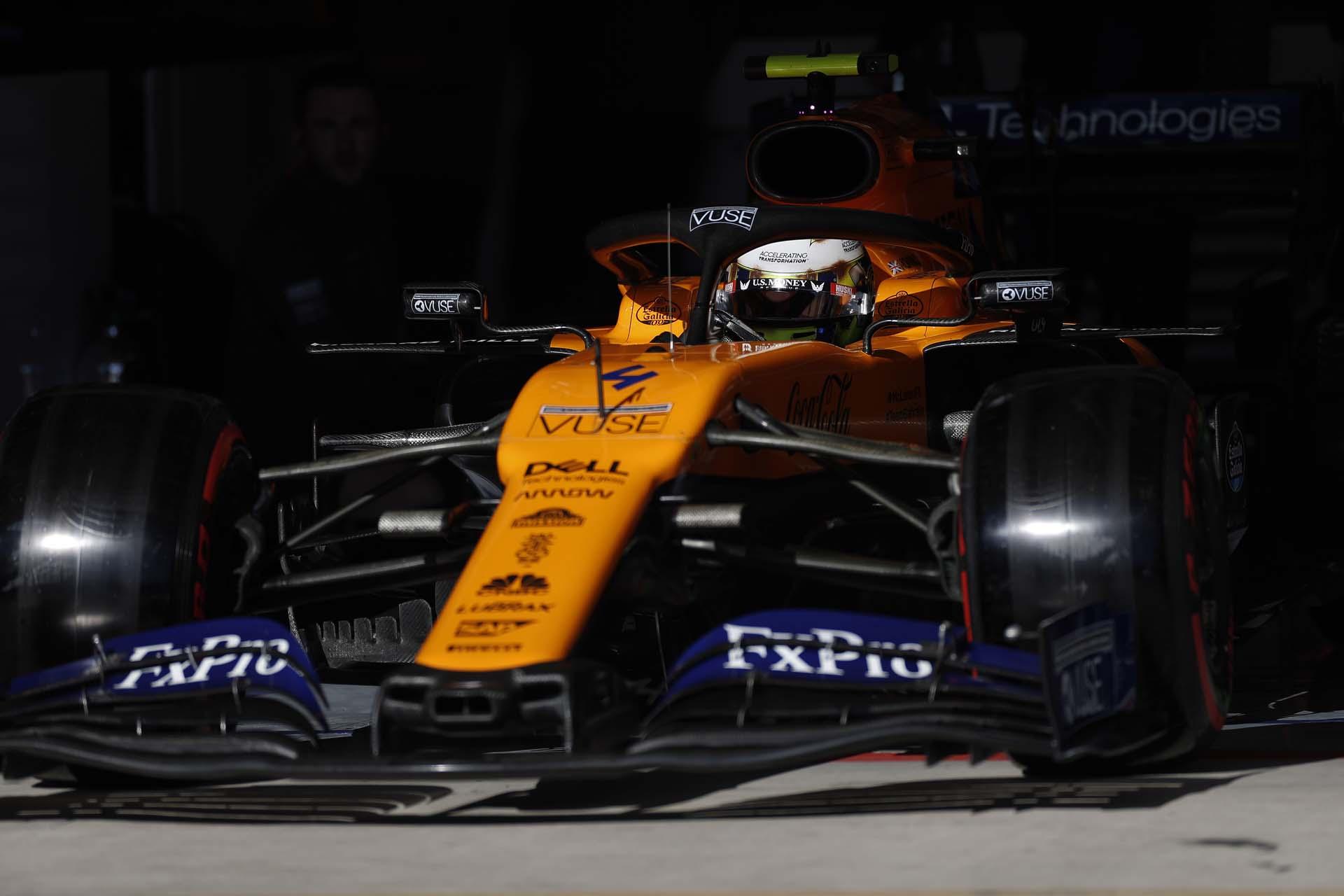 Nose of Lando Norris, McLaren MCL34