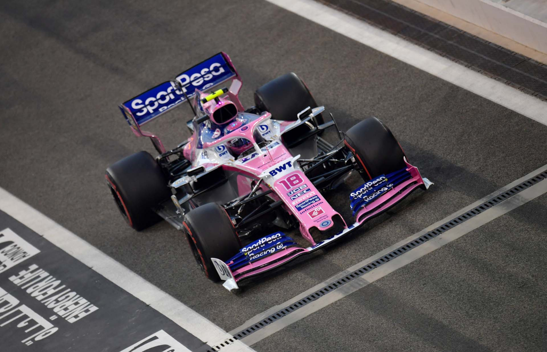 Lance Stroll, Racing Point RP19 during qualifying