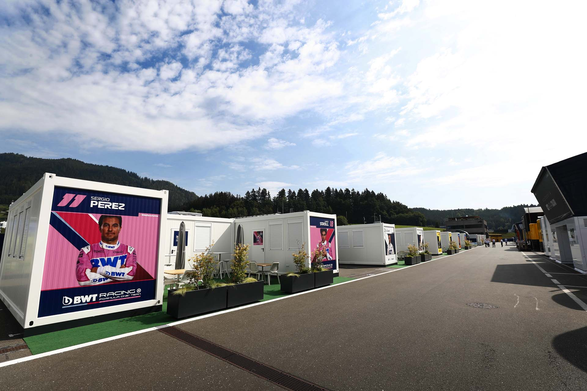 The paddock hospitality areas