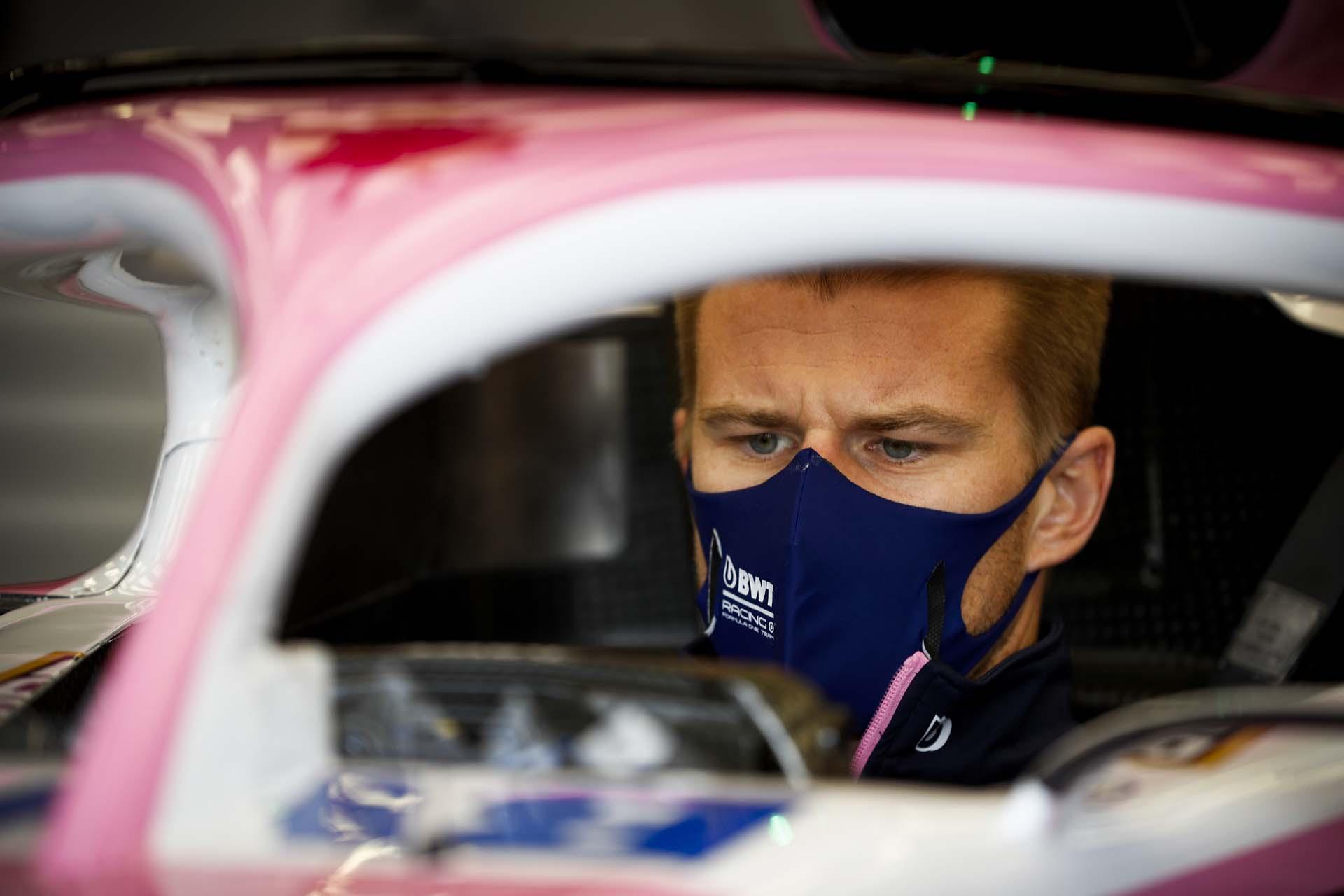 Nico Hulkenberg, Racing Point in the garage