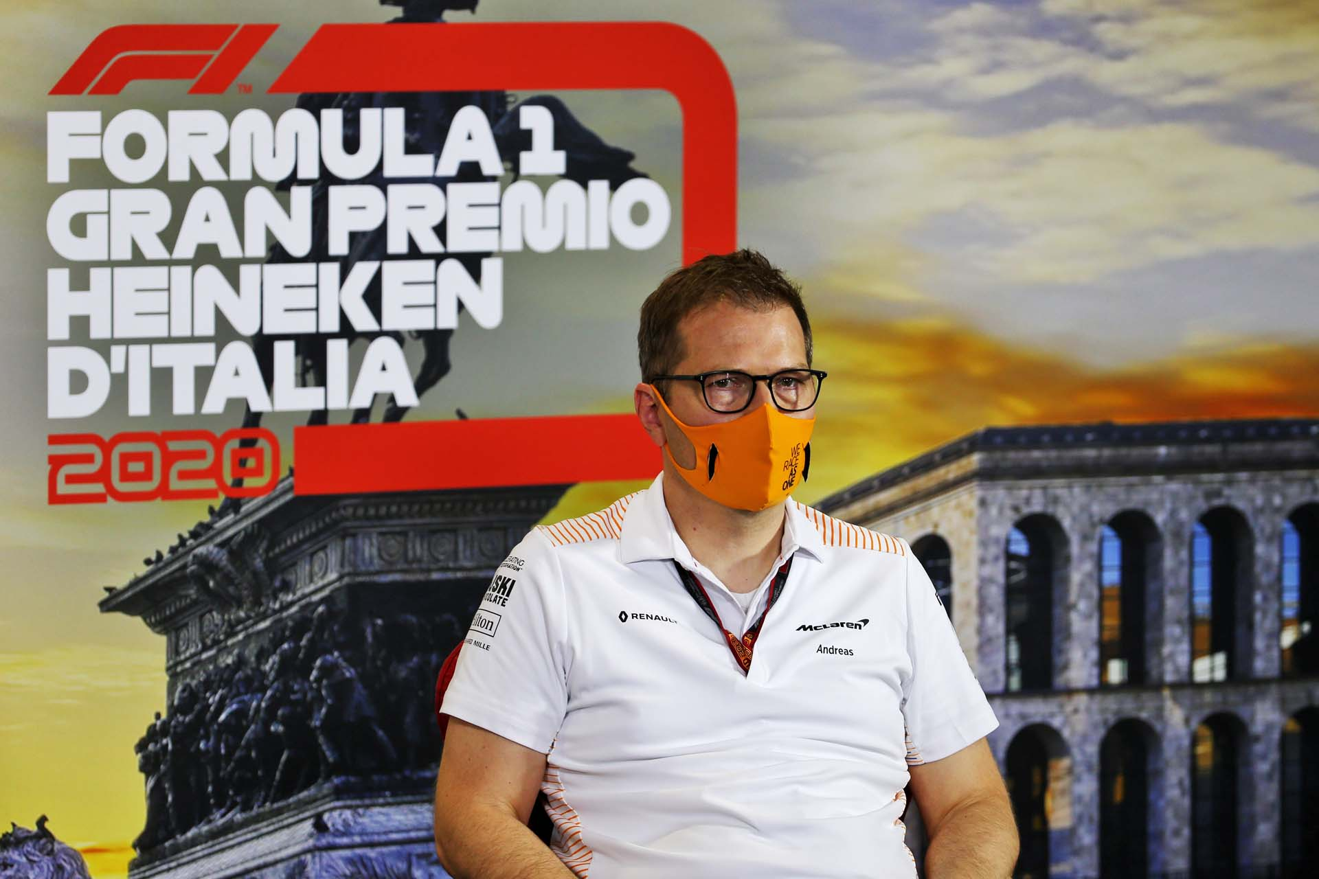 Andreas Seidl, Team Principal, McLaren in the press conference