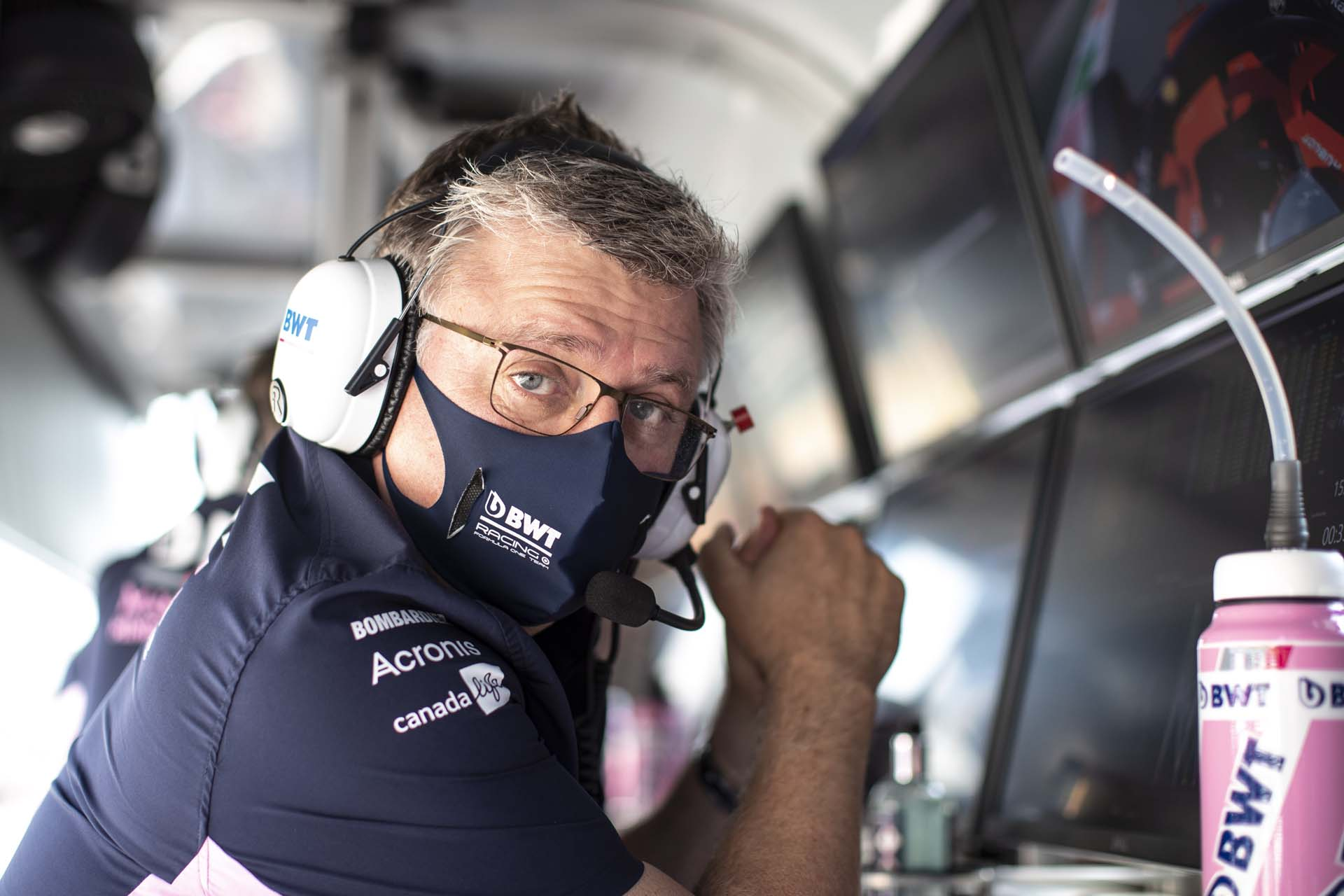 Otmar Szafnauer, Team Principal and CEO, Racing Point, on the pit wall