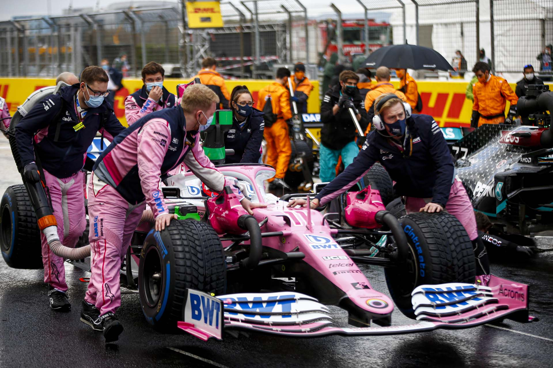 Sergio Perez, Racing Point RP20 on the grid