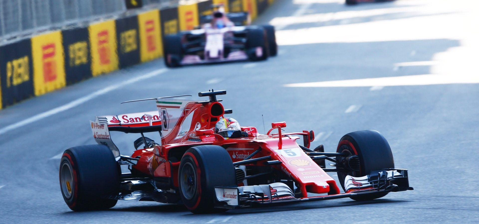 Baku City Circuit, Baku, Azerbaijan. Sunday 25 June 2017. World Copyright: Andy Hone/LAT Images ref: Digital Image _ONY8206, Sebastian Vettel, Ferrari,