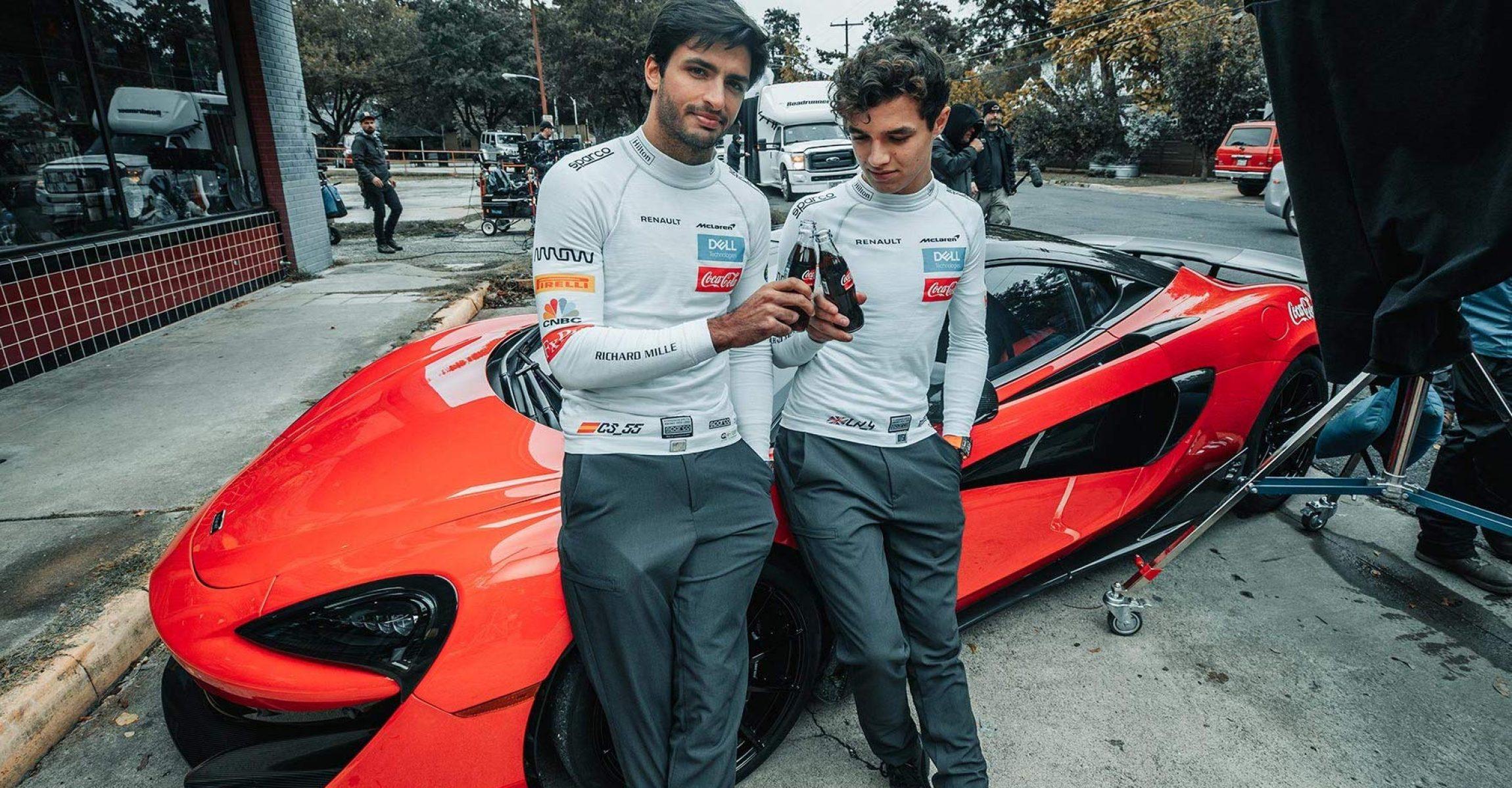 Carlos Sainz, McLaren, Coca Cola, Lando Norris, Amazon