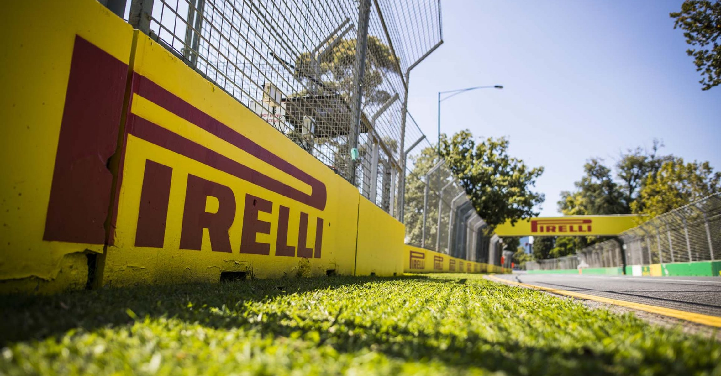 MARCH 11: Pirelli branding around the track during the Australian GP on March 11, 2020. (Photo by Sam Bloxham / LAT Images)