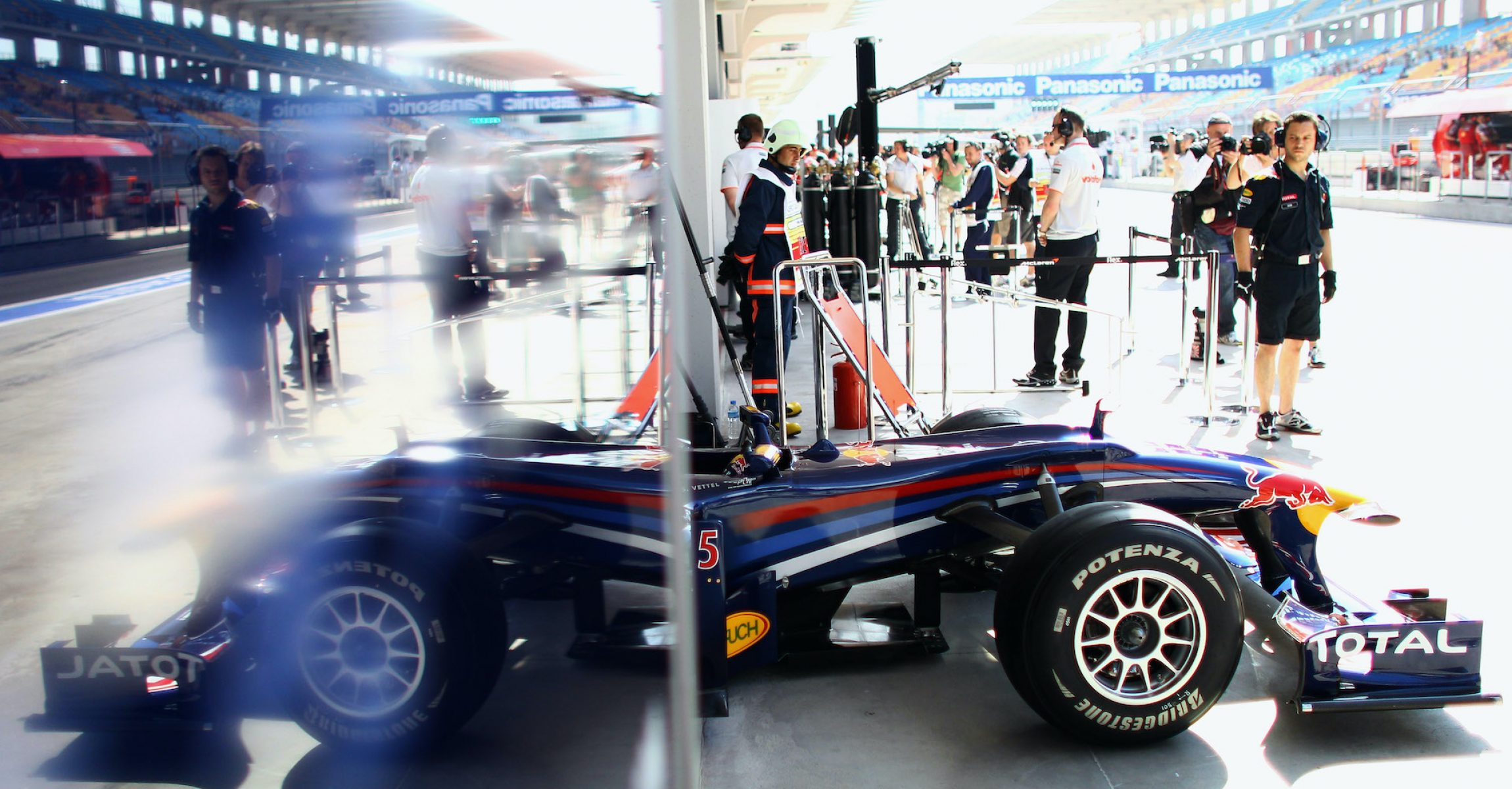 Red Bull, Bridgestone during practice for the Turkish Formula One Grand Prix at Istanbul Park on May 28, 2010, in Istanbul, Turkey.