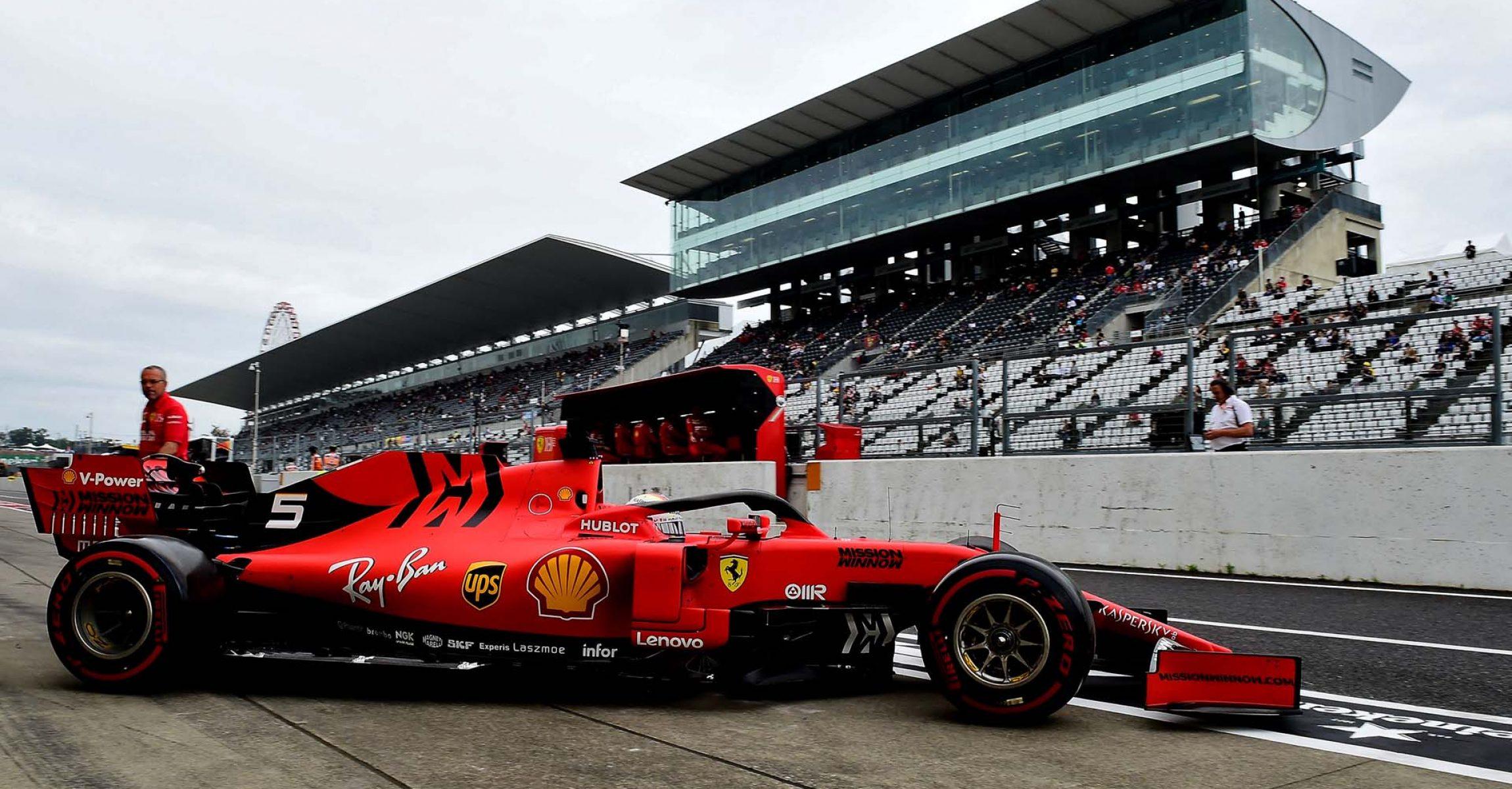GP GIAPPONE F1/2019 -  VENERDÌ 11/10/2019   credit: @Scuderia Ferrari Press Office Sebastian Vettel, Ferrari