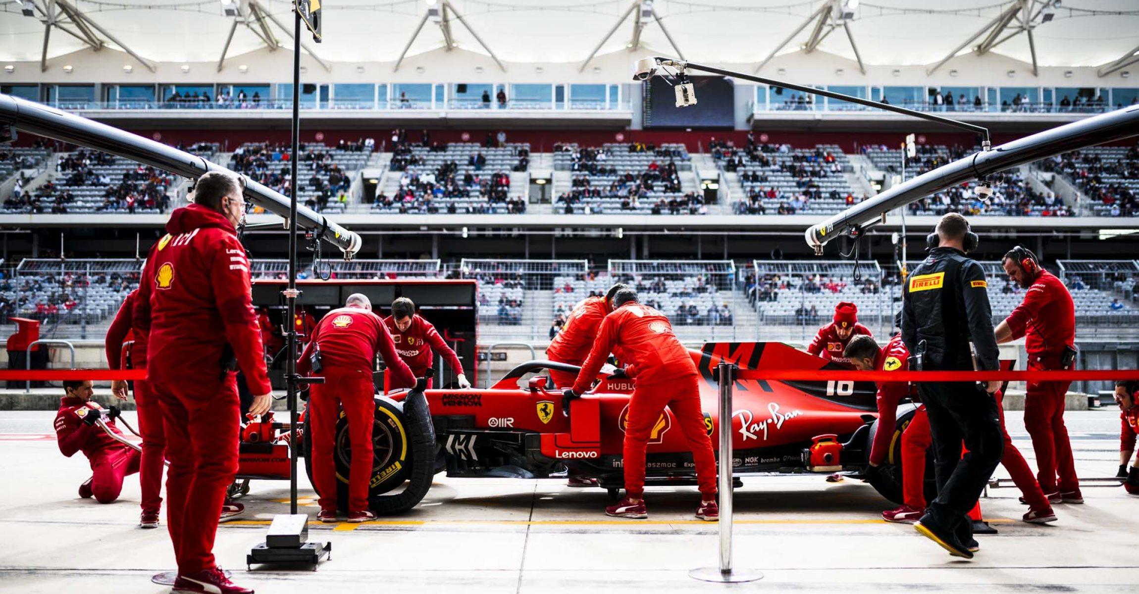 Charles Leclerc, Ferrari, pitstop