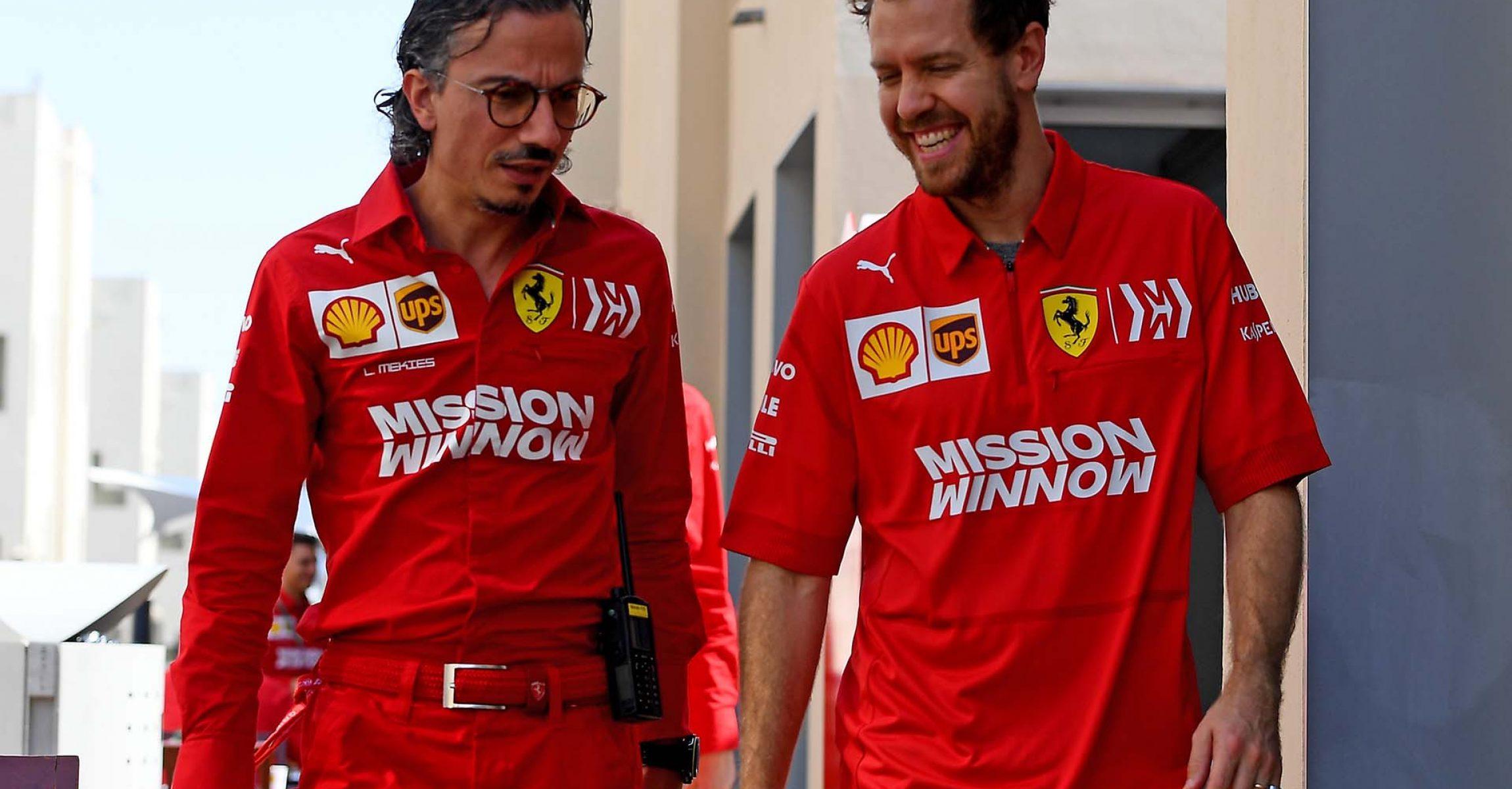 GP ABU DHABI  F1/2019 - VENERDÌ 29/11/2019   credit: @Scuderia Ferrari Press Office Laurent Mekies Sebastian Vettel