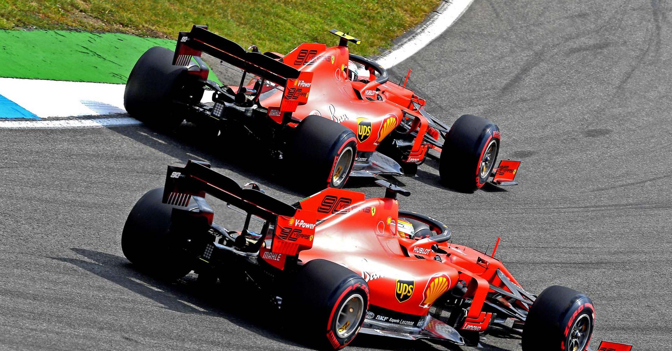 GP GERMANIA F1/2019 - SABATO 27/07/2019  credit: @Scuderia Ferrari Press Office  Charles Leclerc Ferrari Sebastian Vettel