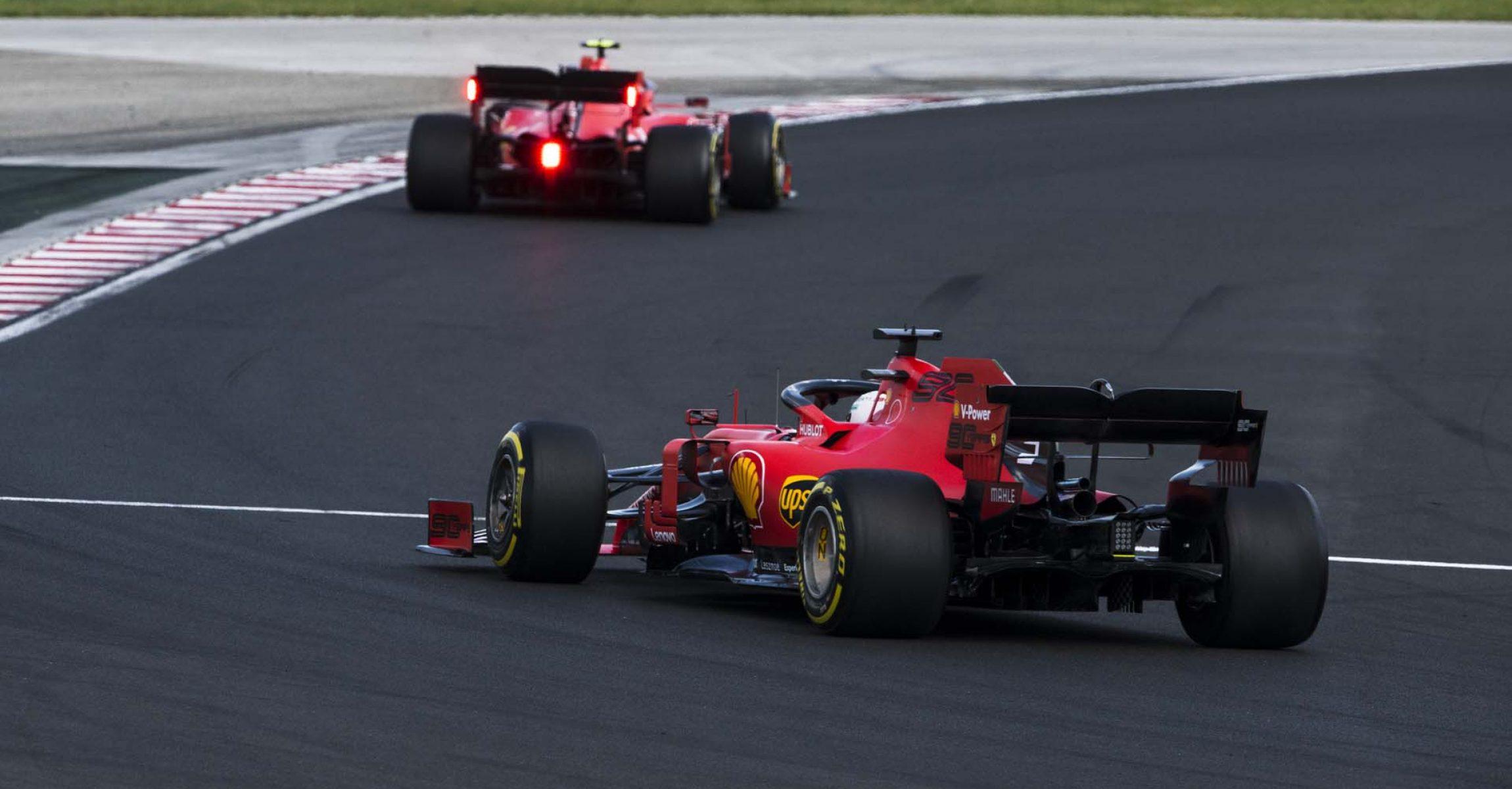 Charles Leclerc Sebastian Vettel Ferrari