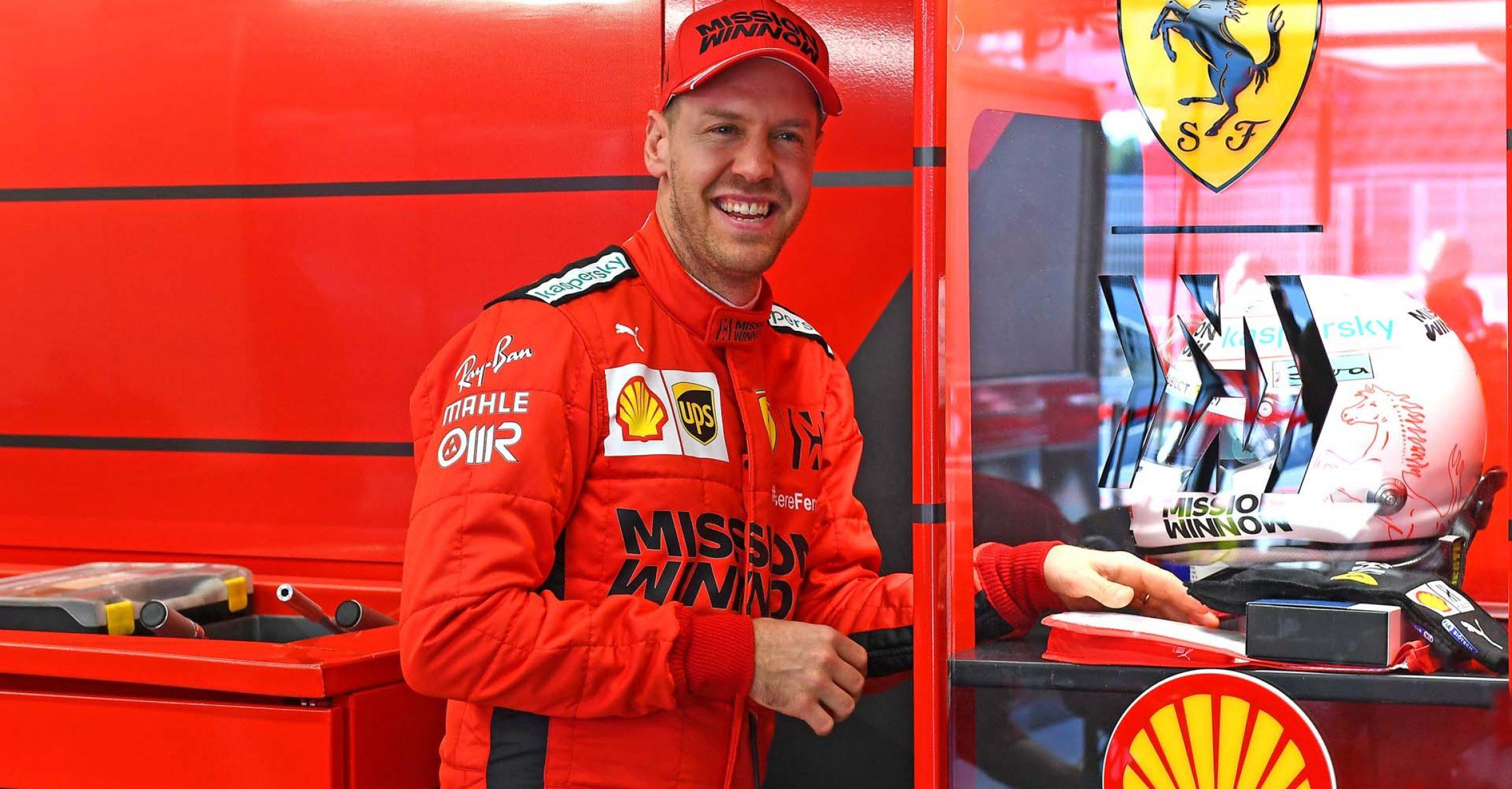TEST T1 BARCELLONA - GIOVEDì 20/02/20 Sebastian Vettel Ferrari