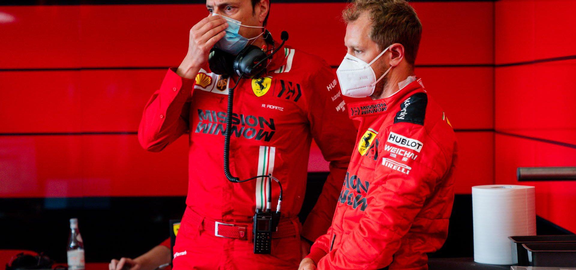 Sebastian Vettel, mask, Scuderia Ferrari, Mugello