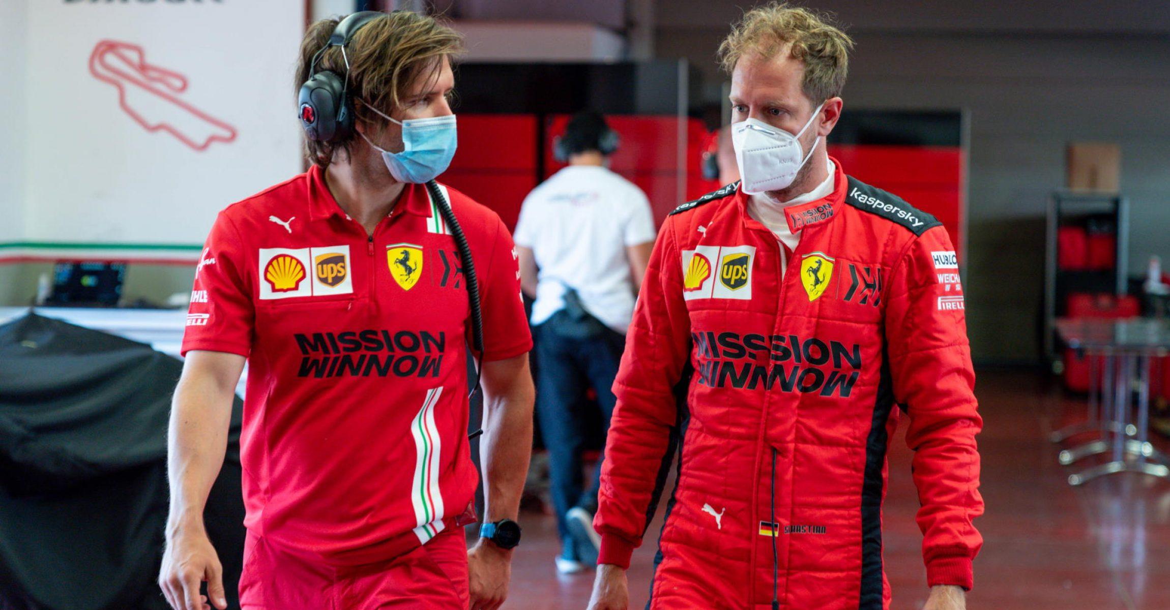 Antti Kontsas, Sebastian Vettel, Ferrari