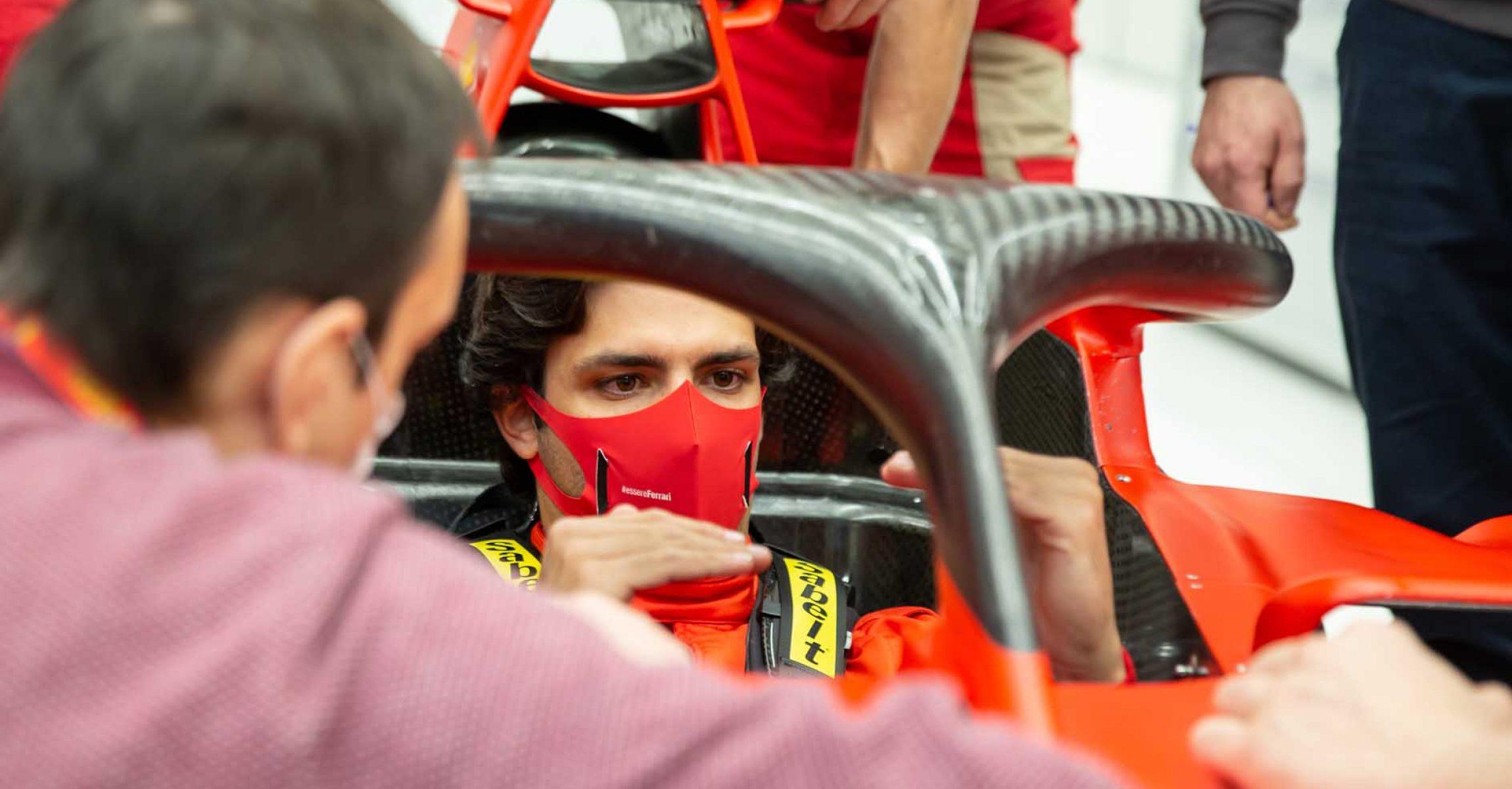 Carlos Sainz seat fit Ferrari