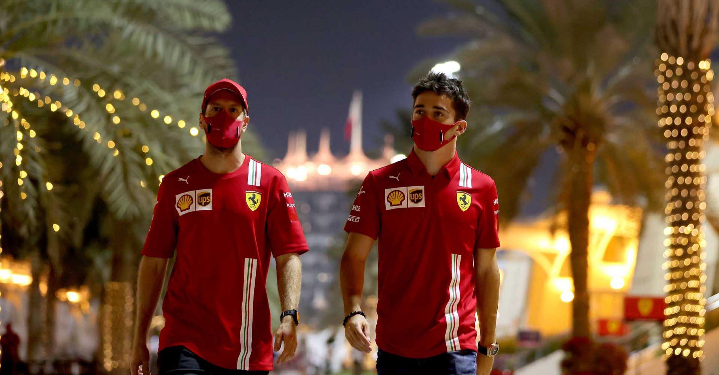 GP SAKHIR  F1/2020 - GIOVEDÌ 03/12/2020      credit: @Scuderia Ferrari Press Office Sebastian Vettel Charles Leclerc