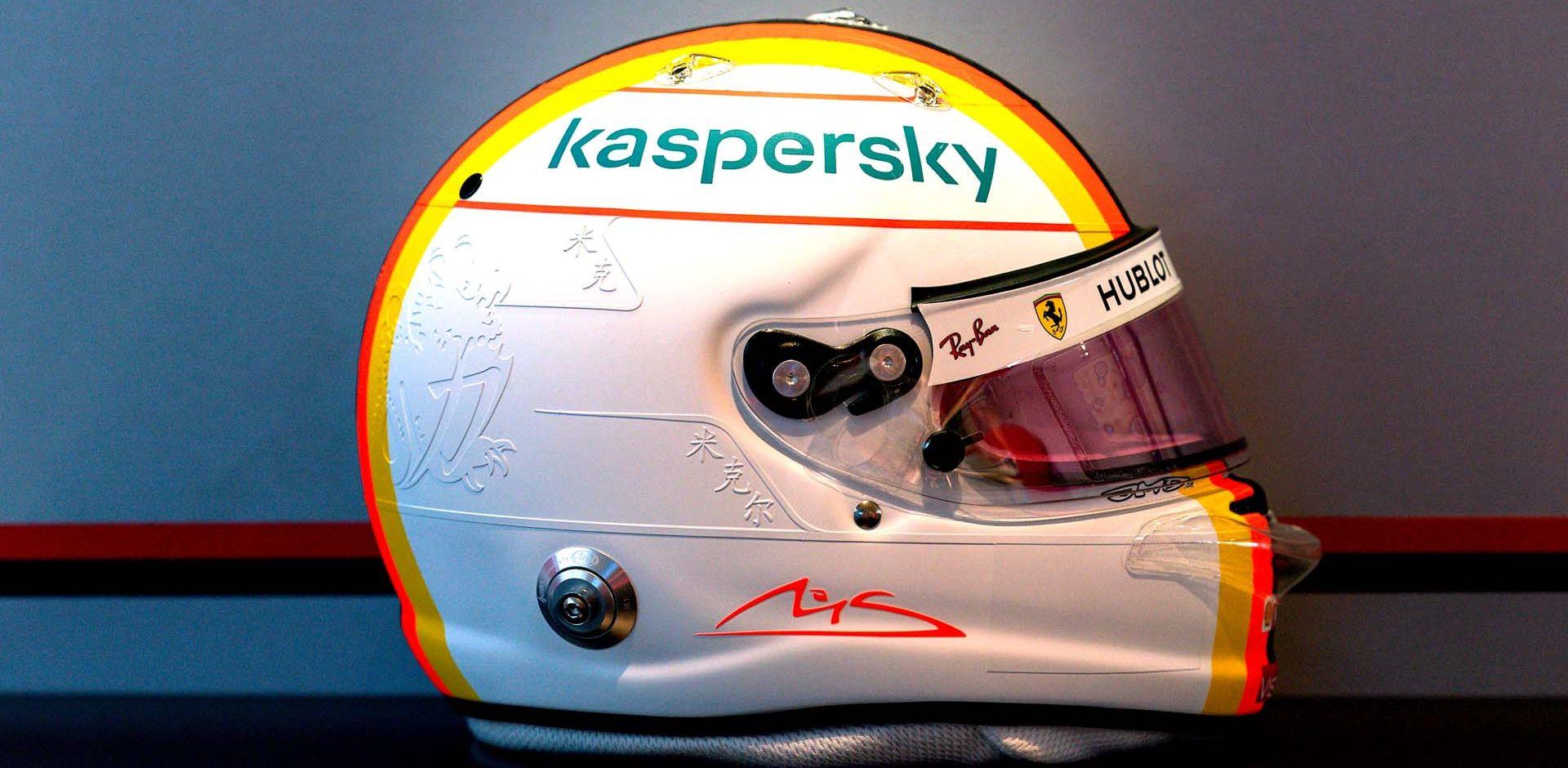 GP GERMANIA F1/2020 -  GIOVEDI 08/10/2020   credit: @Scuderia Ferrari Press Office Sebastian Vettel helmet
