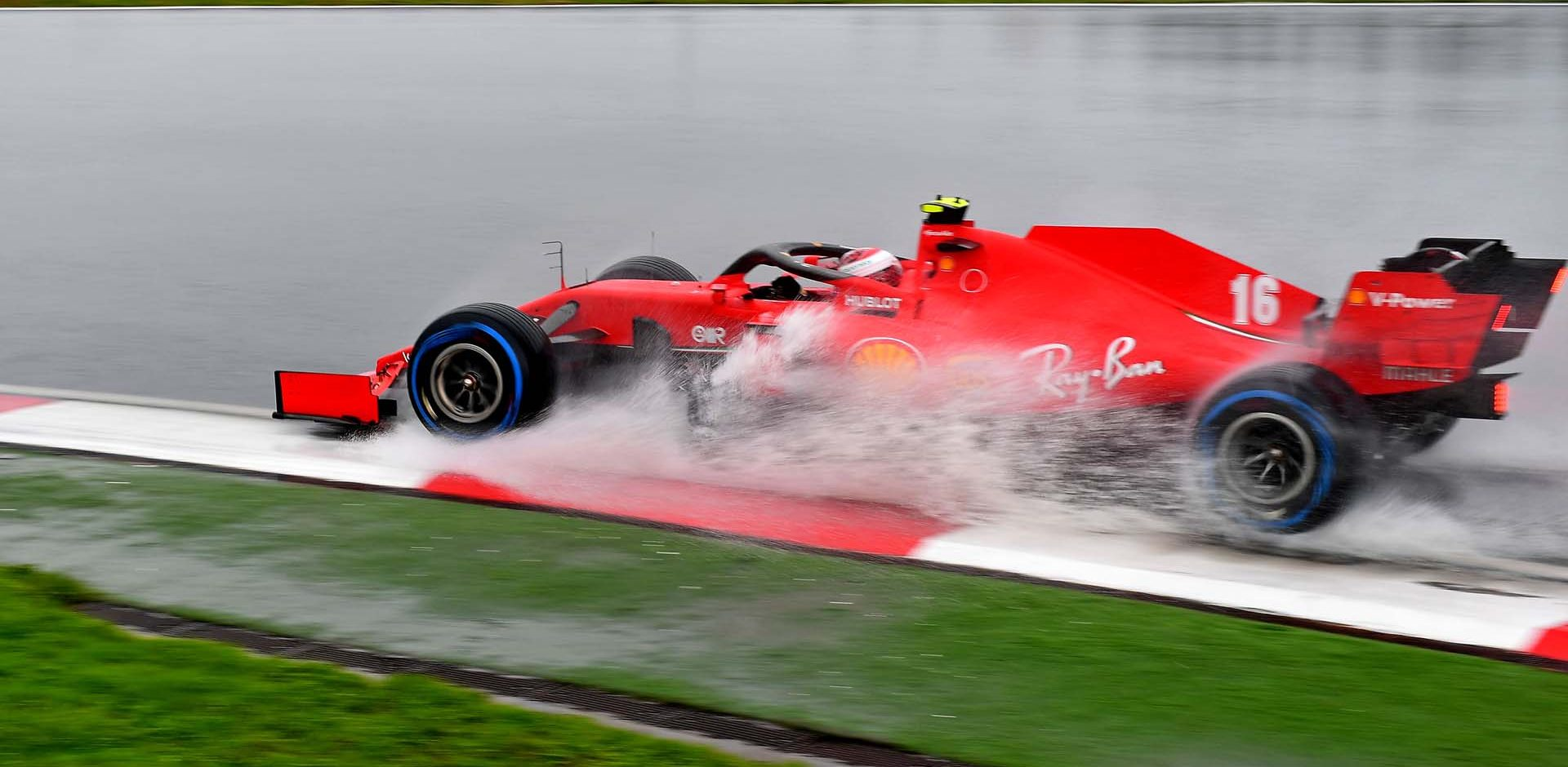 GP TURCHIA  F1/2020 -  SABATO 14/11/2020    credit: @Scuderia Ferrari Press Office Charles Leclerc wet, rain, beauty