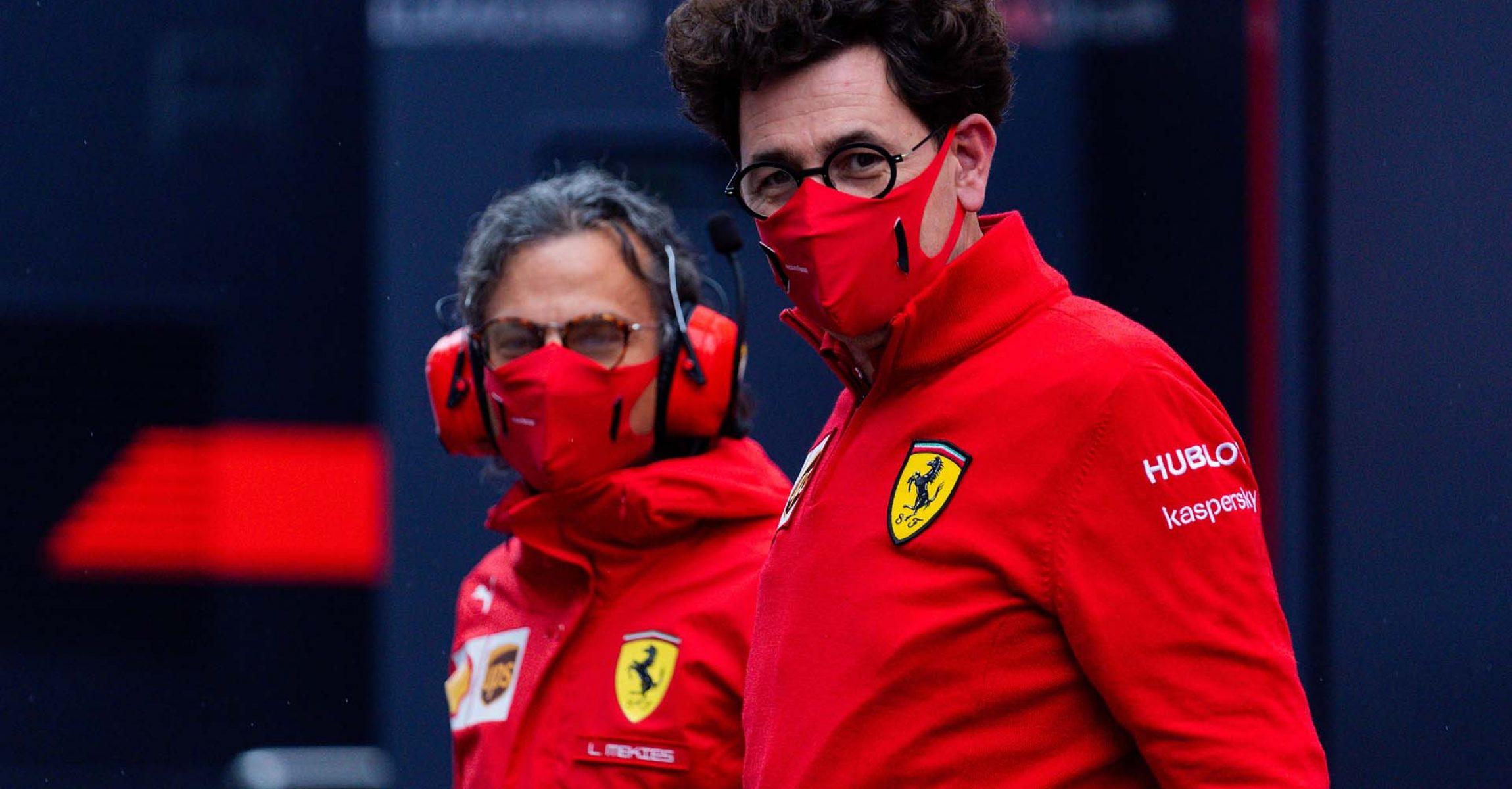 GP STYRIA F1/2020 - SABATO 11/07/2020 credit: @Scuderia Ferrari Press Office Mattia Binotto Laurent Mekies
