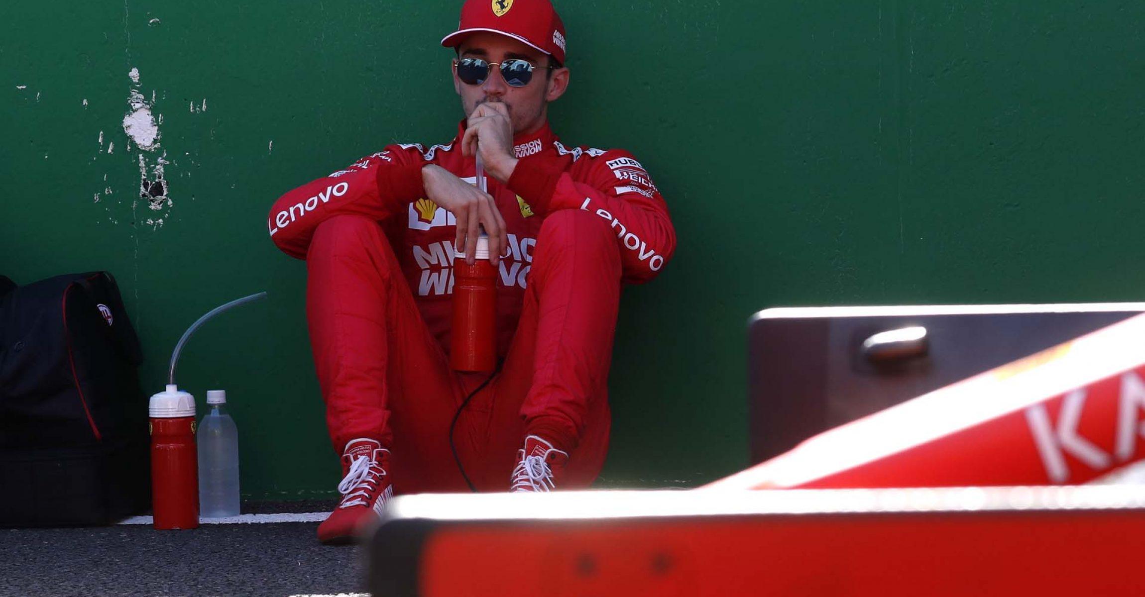 Formula One F1 - Japanese Grand Prix - Suzuka Circuit, Suzuka, Japan - October 13, 2019. Ferrari's Charles Leclerc before the race. REUTERS/Kim Hong-Ji