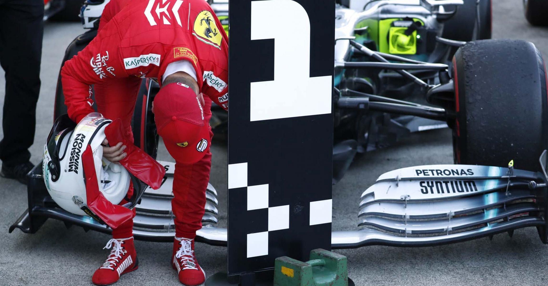 Formula One F1 - Japanese Grand Prix - Suzuka Circuit, Suzuka, Japan - October 13, 2019. Ferrari's Sebastian Vettel after the race. REUTERS/Issei Kato