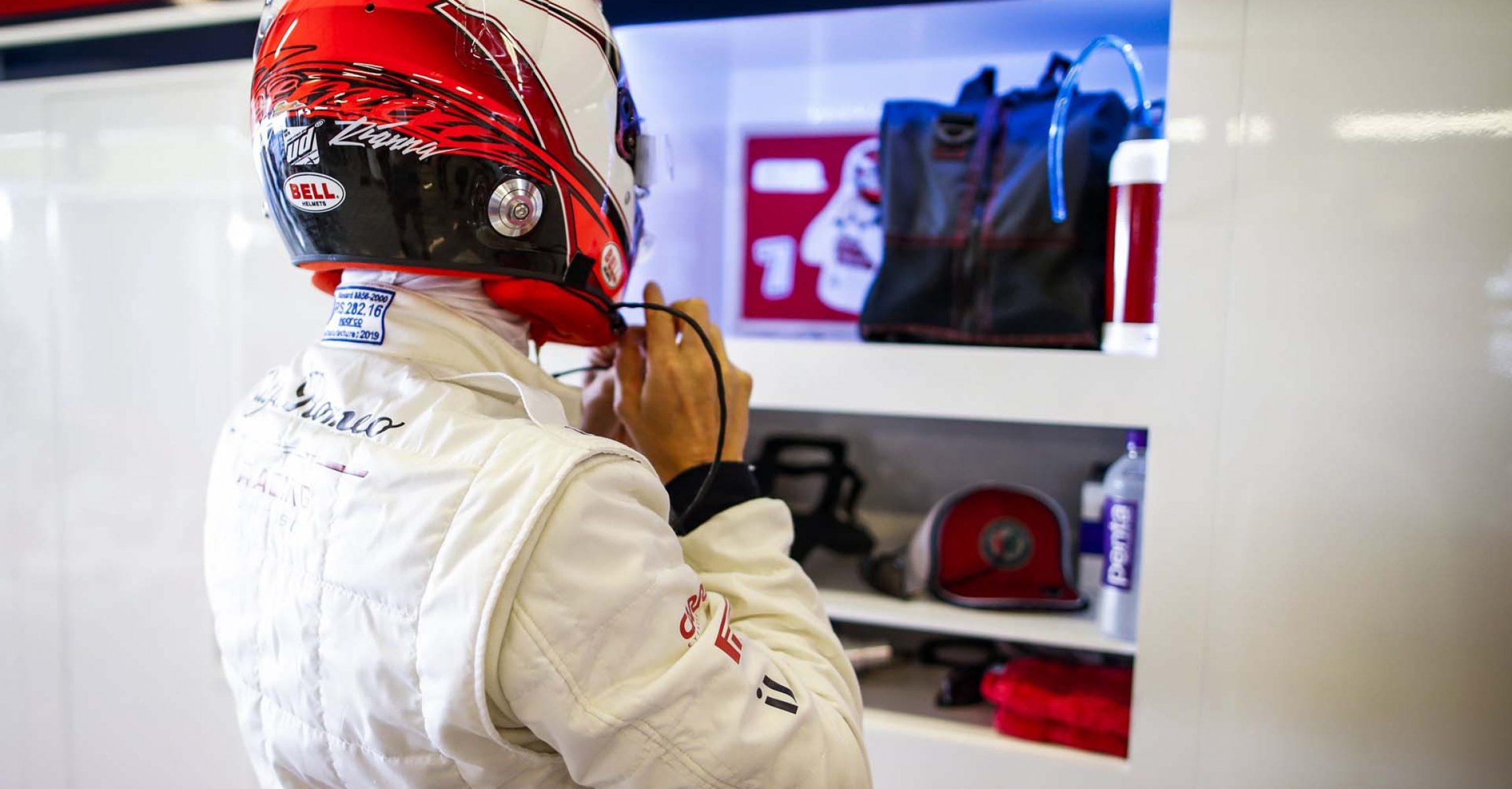 RAIKKONEN Kimi Räikkönen (fin), Alfa Romeo Racing C38, portrait during the 2019 Formula One World Championship, Abu Dhabi Grand Prix from November 28 to december 1 in Yas Marina - Photo Florent Gooden / DPPI